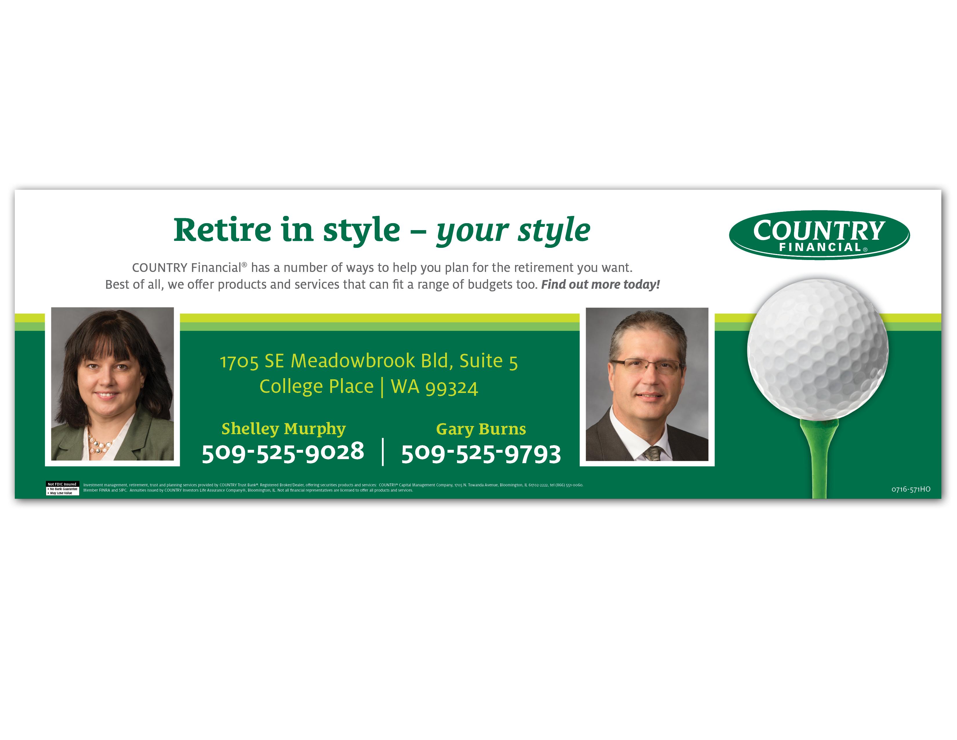 kayla scholl golf bench ad