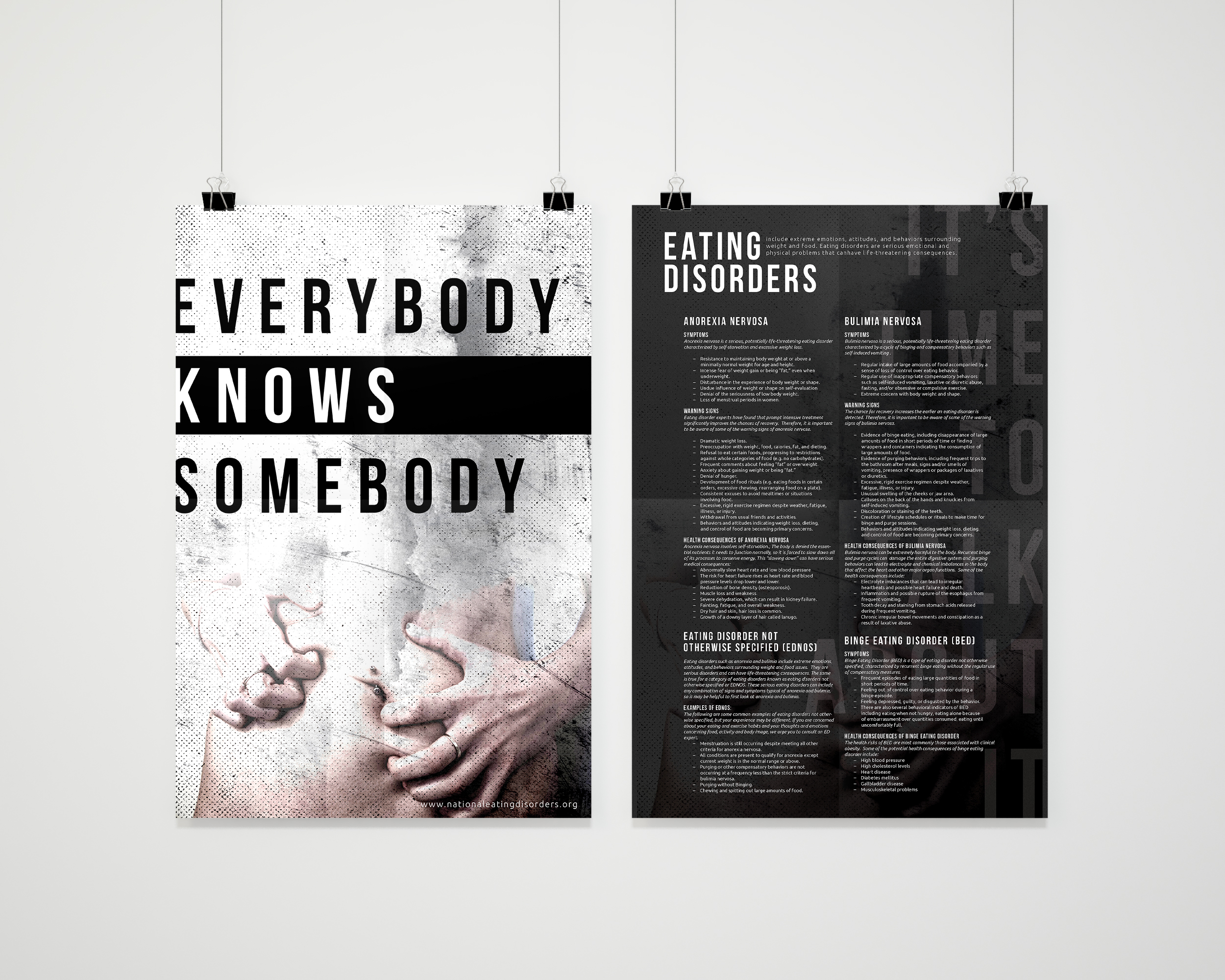 most appreciated projects on behance eating disorder awareness poster design
