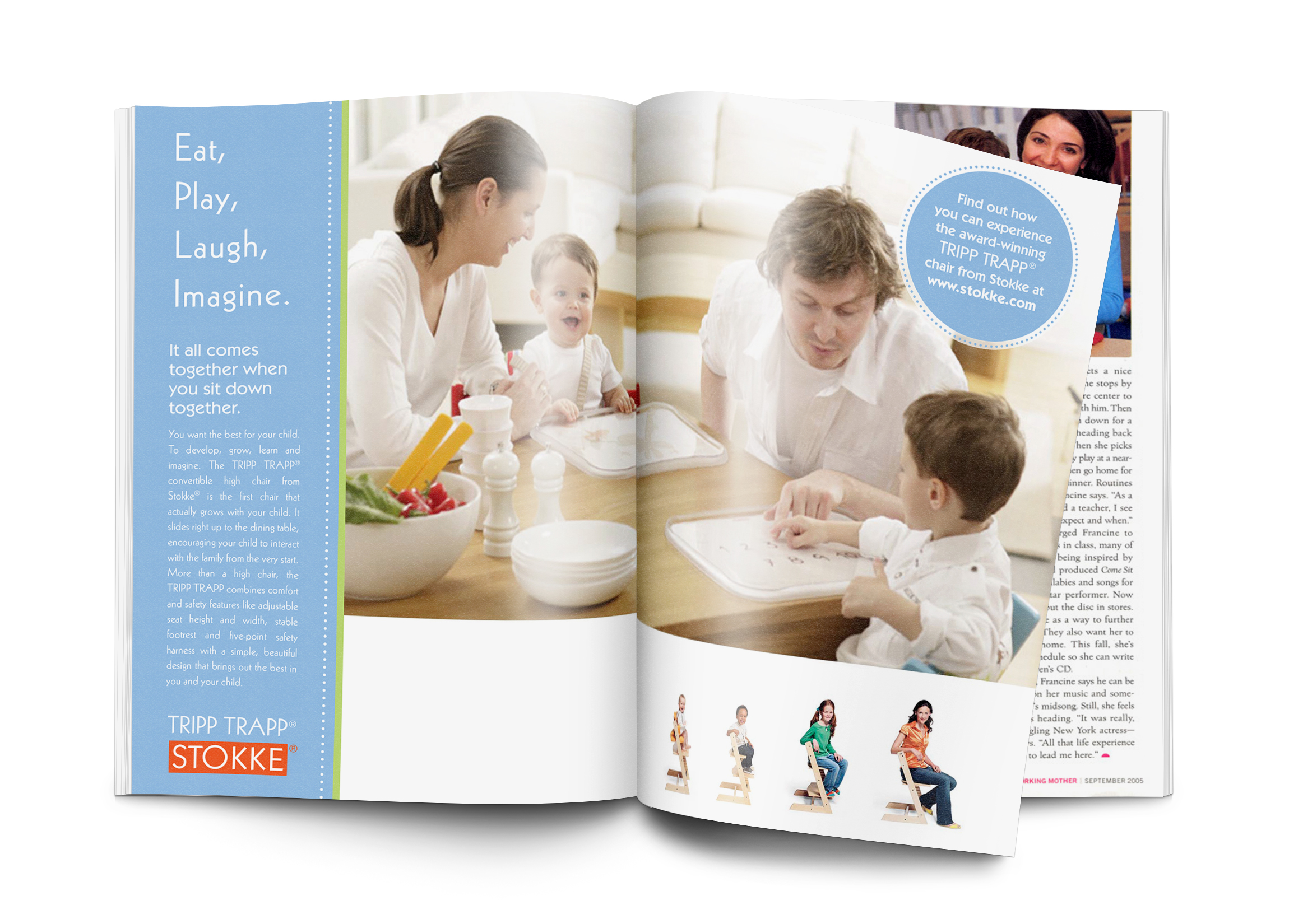 Stokke Tripp Trapp Print Ads on Behance