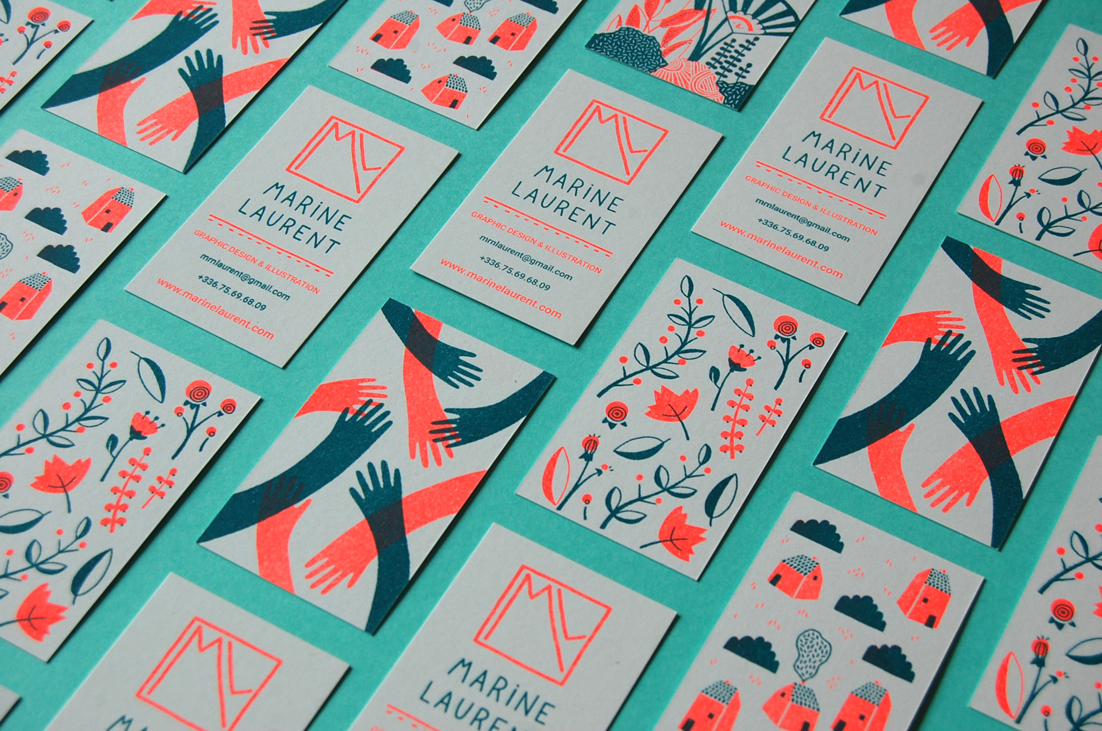 Riso Business Cards on Behance