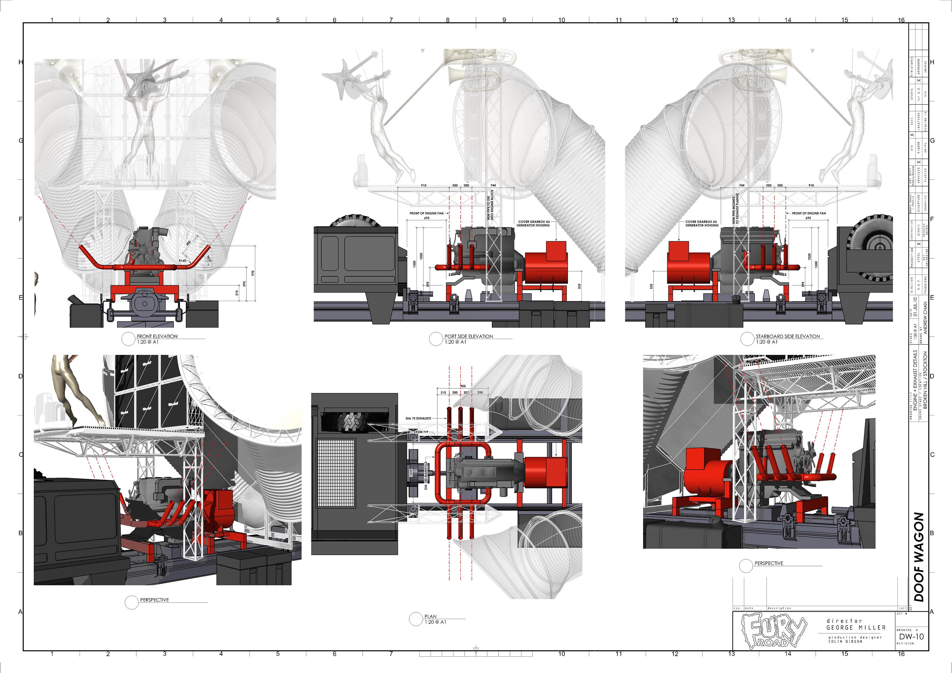 Mad Max 4 Fury Road 2015 On Behance Engine Diagram