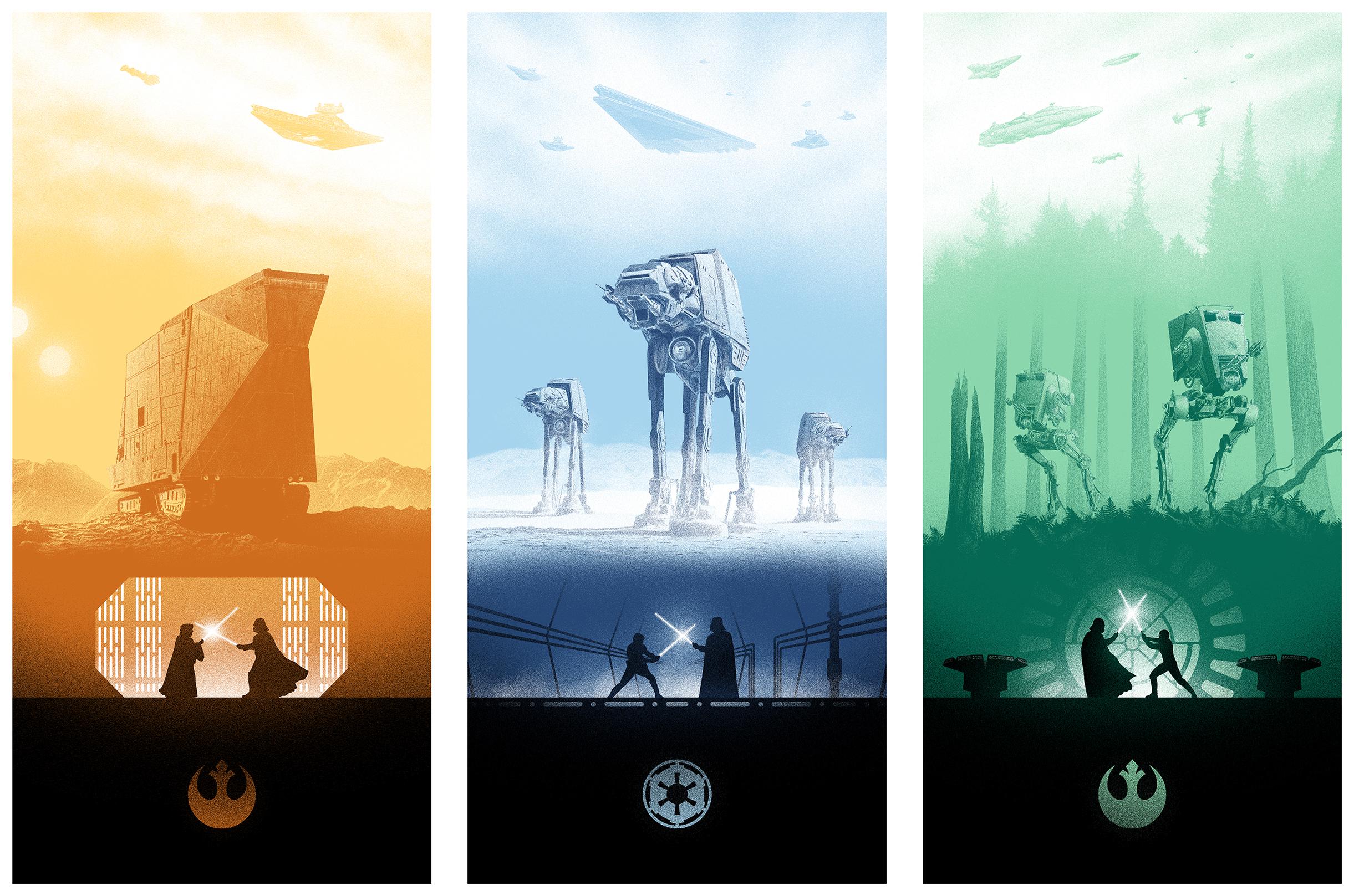 star wars trilogy on behance