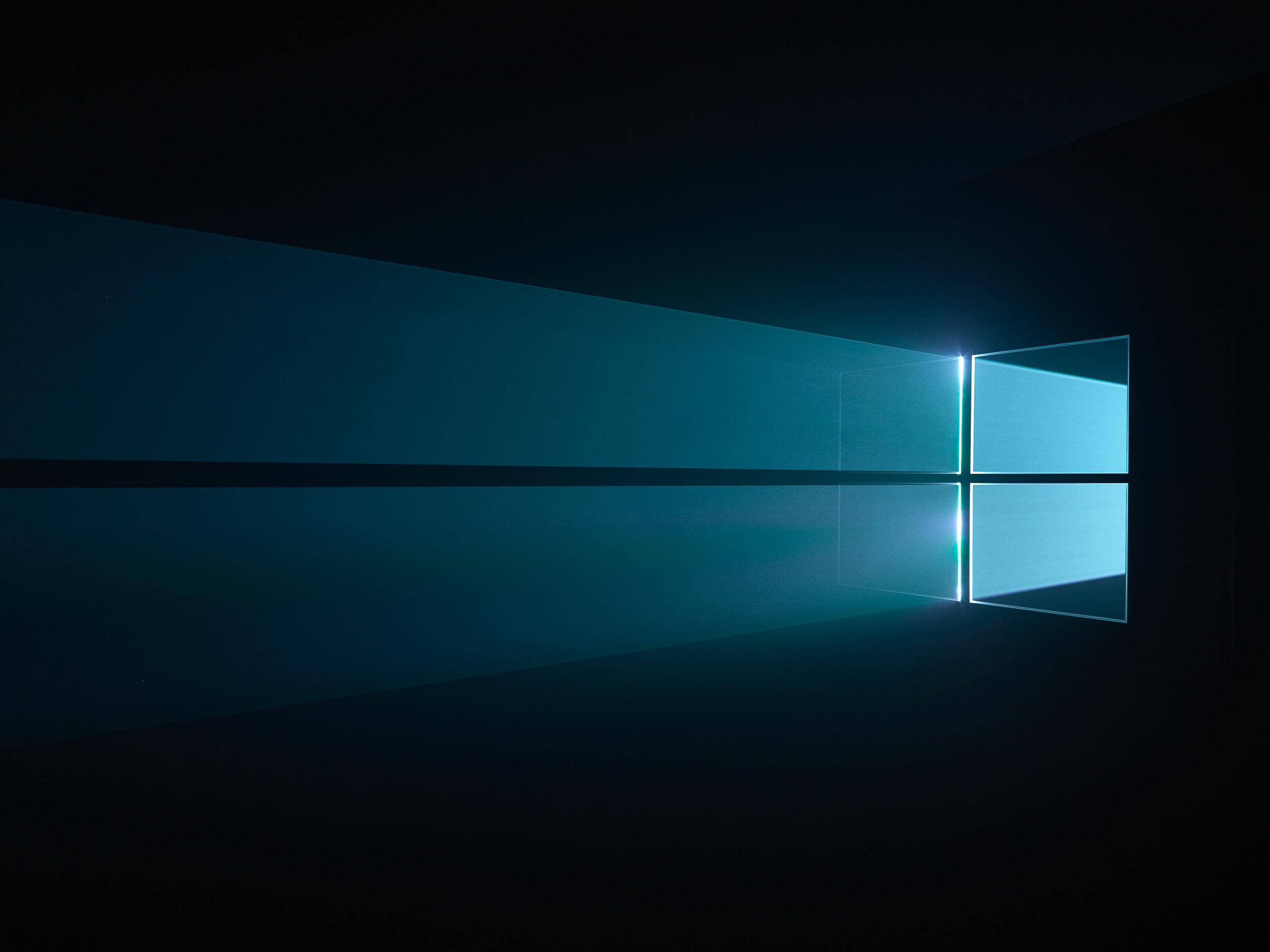 windows 10 blue background