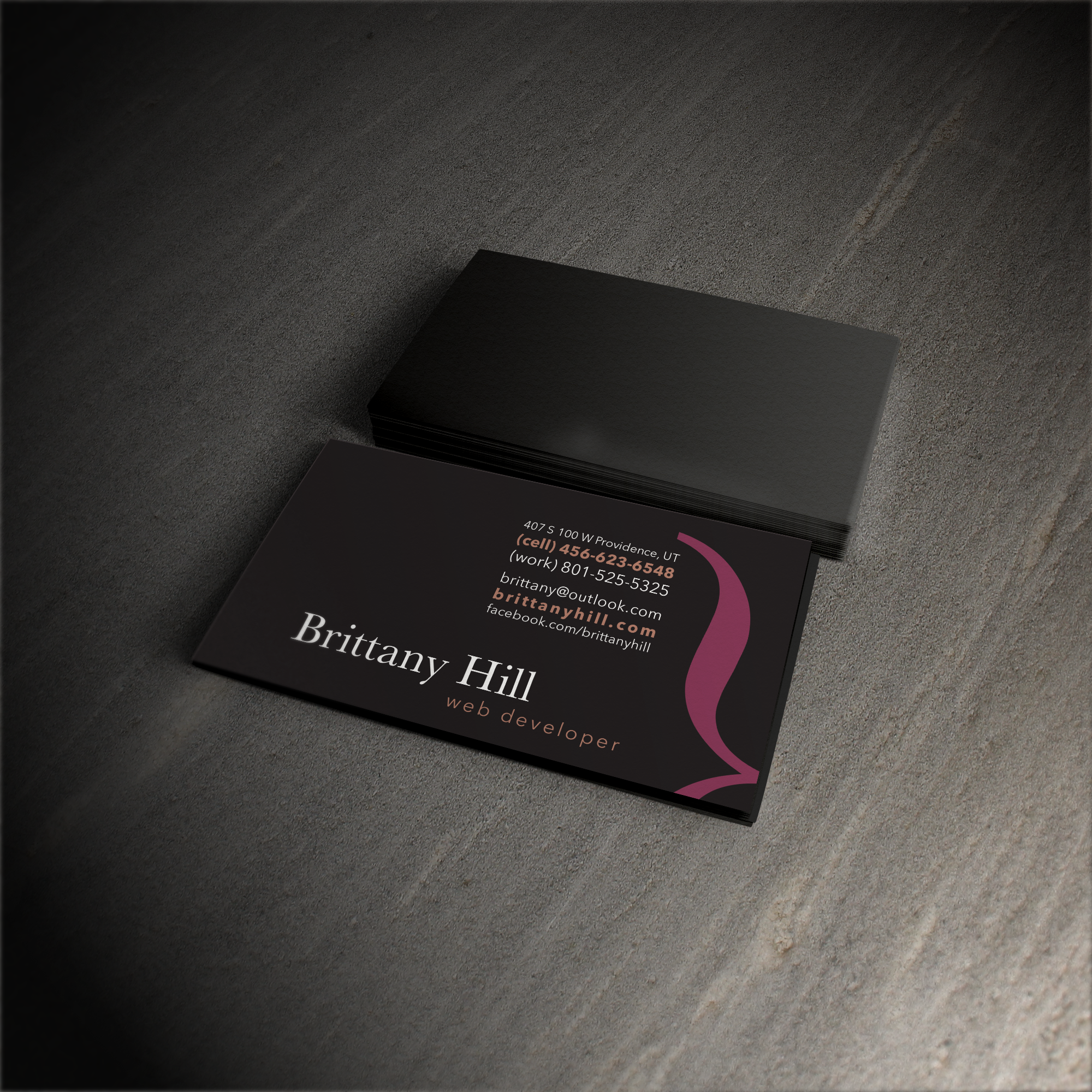 Brittany Hill - Web Design Business Cards
