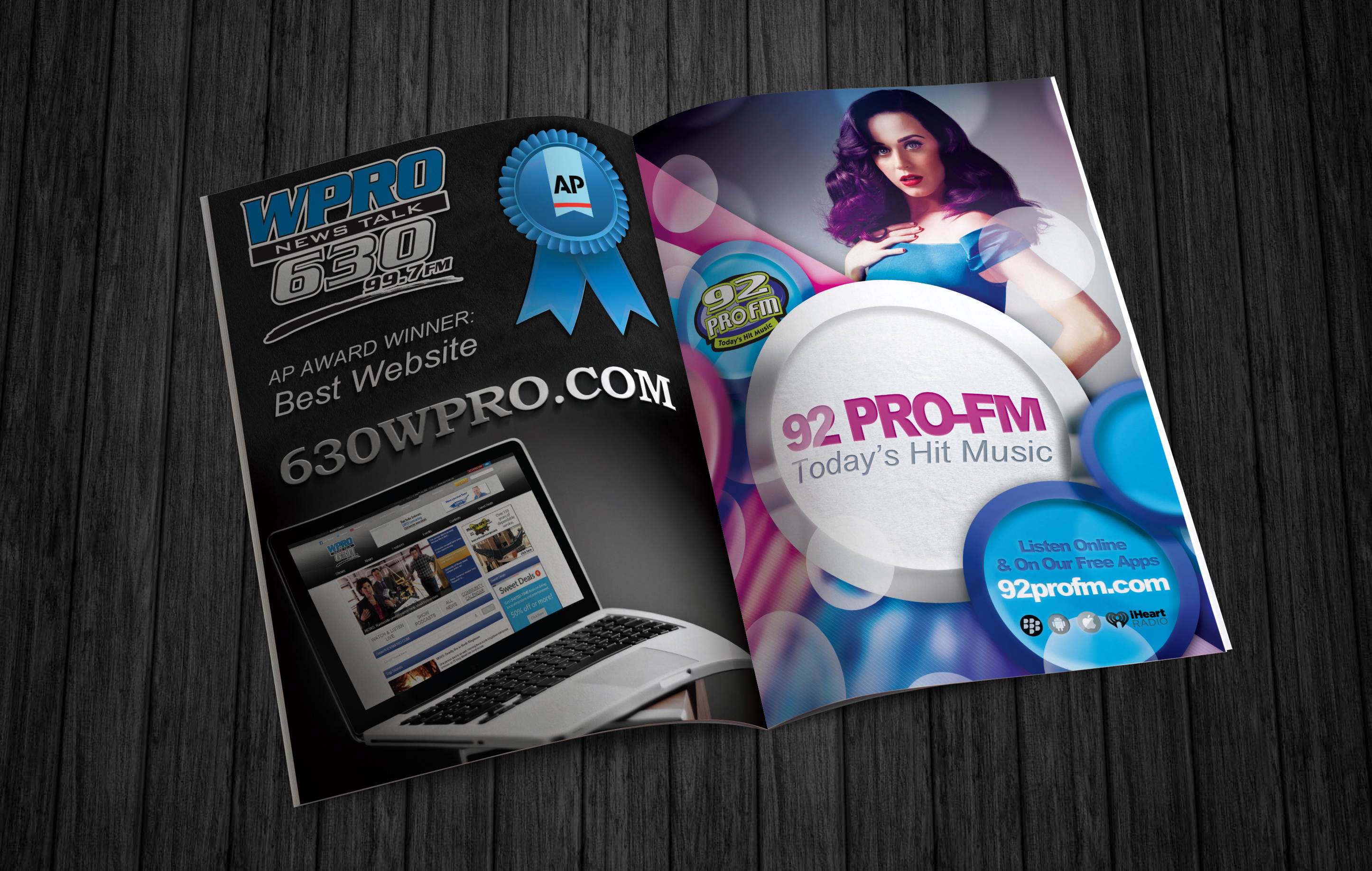 Magazine Ads Designed For 630 WPRO And 92 PRO FM In Providence Cumulus Media