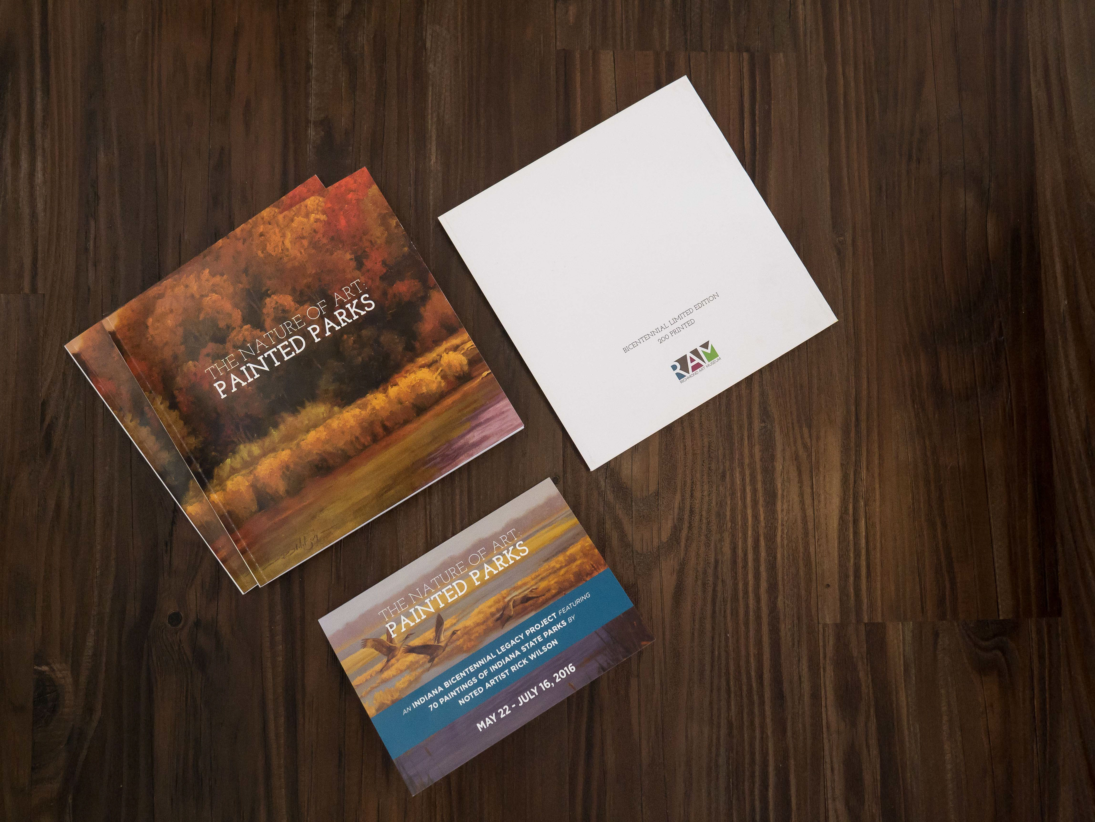 Savannah snyder book design print collateral project artists book design and print collateral for the nature of art painted parks exhibit location richmond in equipment adobe illustrator reheart Images