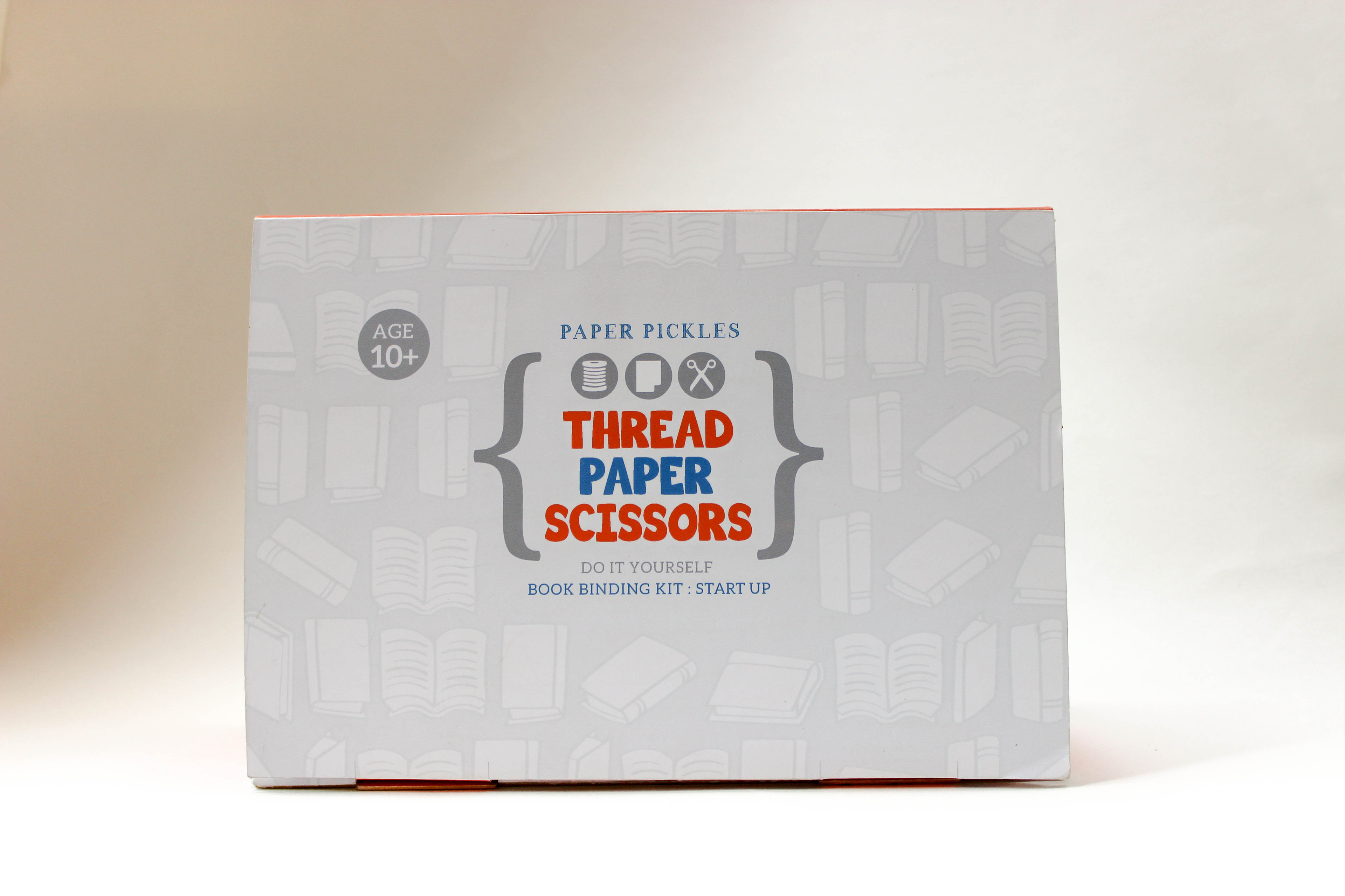 Thread paper scissors packaging book binding kit on behance solutioingenieria Choice Image
