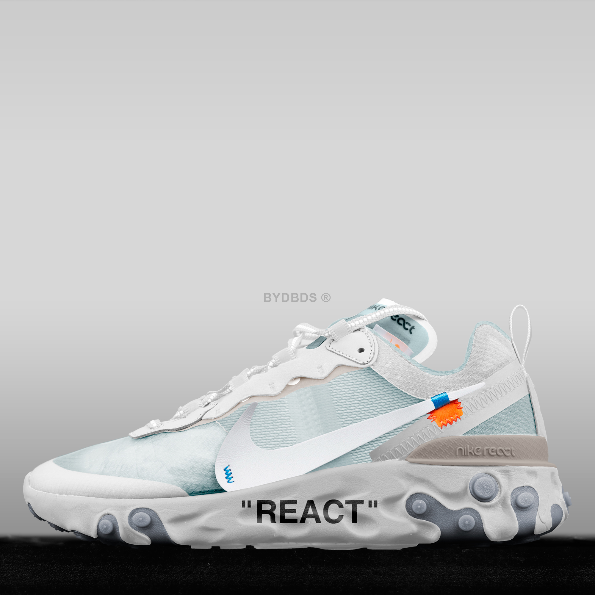 reputable site e2826 82a9f ... sweden nike react element 87 x off white concept bydbds on behance  fc24d b4ee1