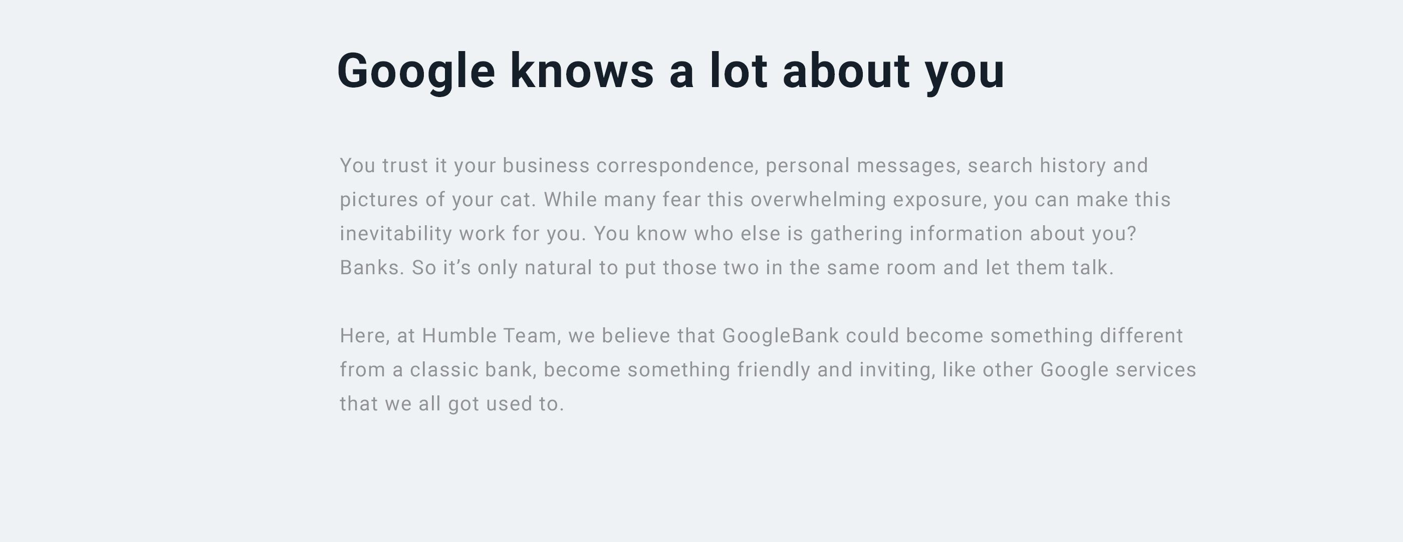 Google bank application concept on behance falaconquin