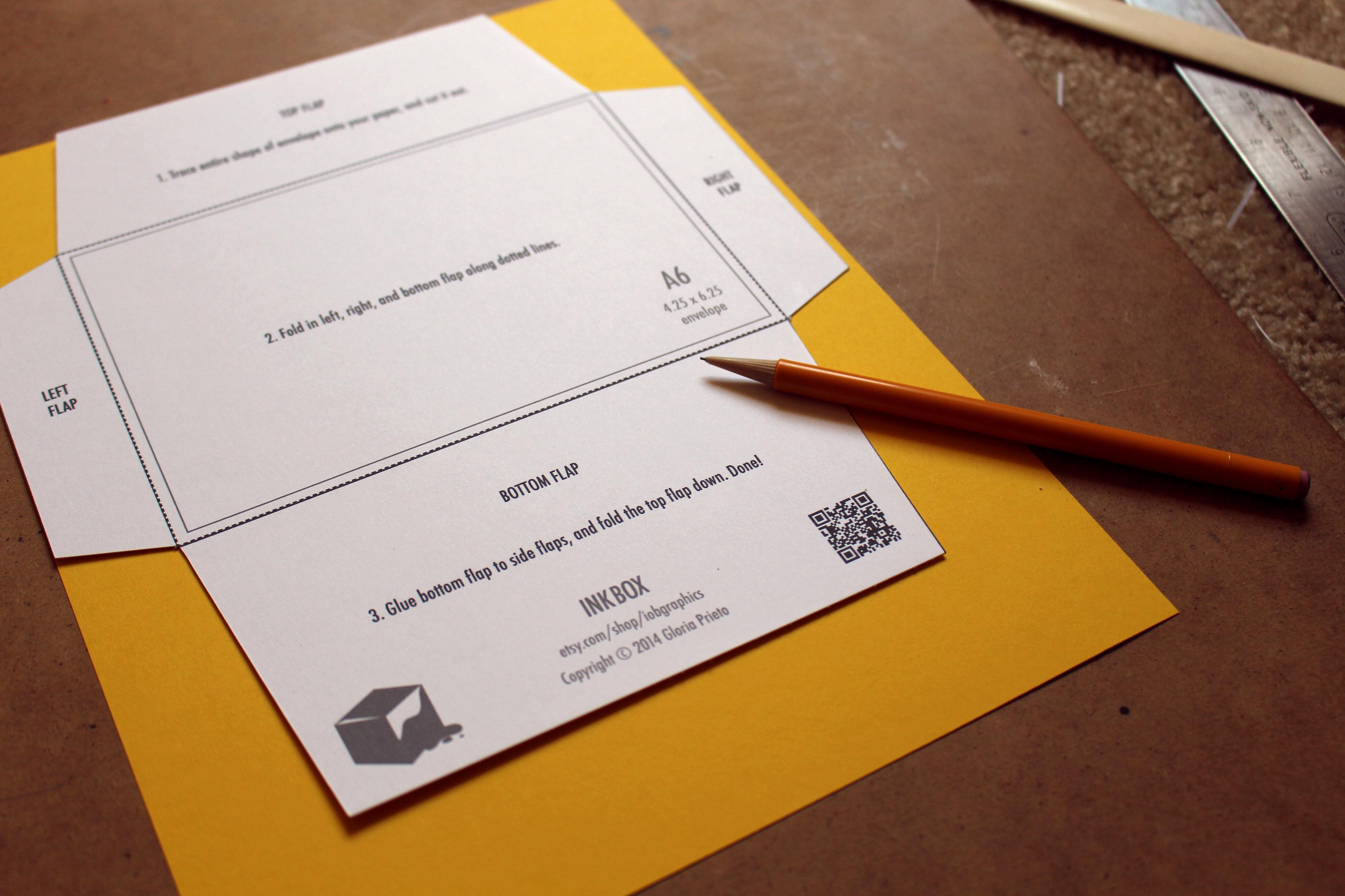 gloria prieto free printable 4 25 x 6 25 envelope template design