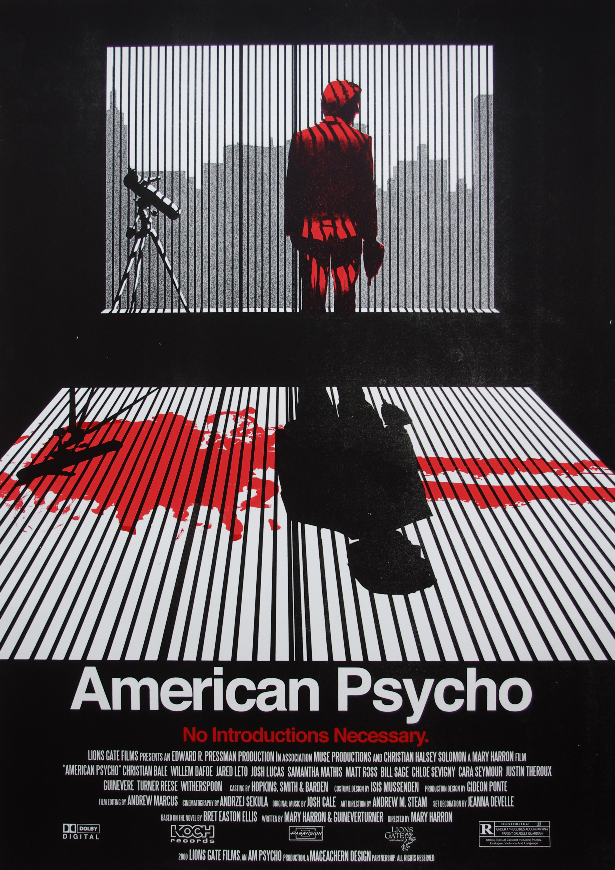 american psycho movie poster on behance
