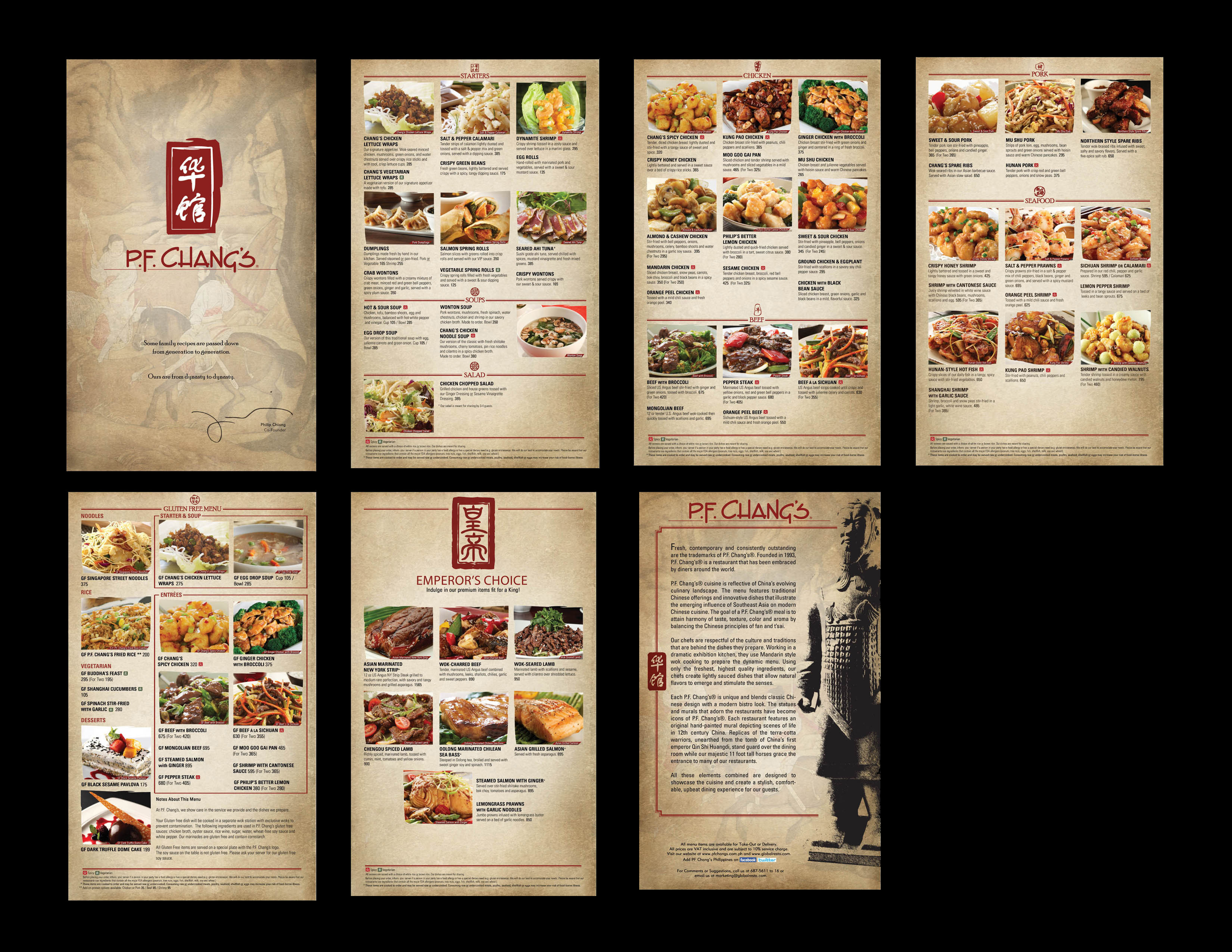 christine arigadas - p.f. chang's menu