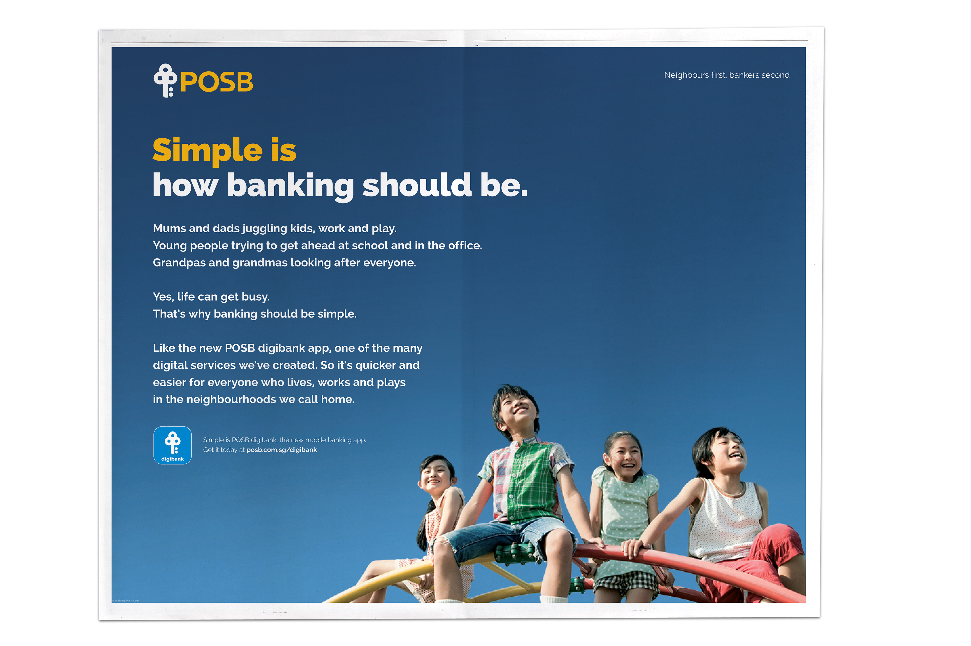 posb simple banking on behance