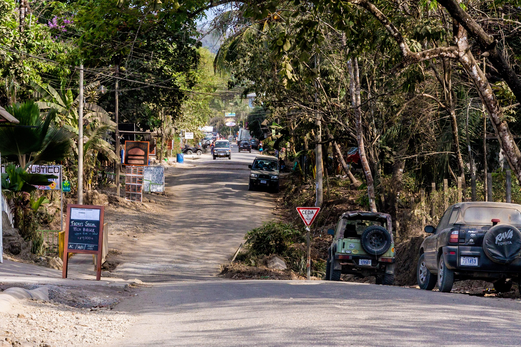 Main road through Playa Carmen