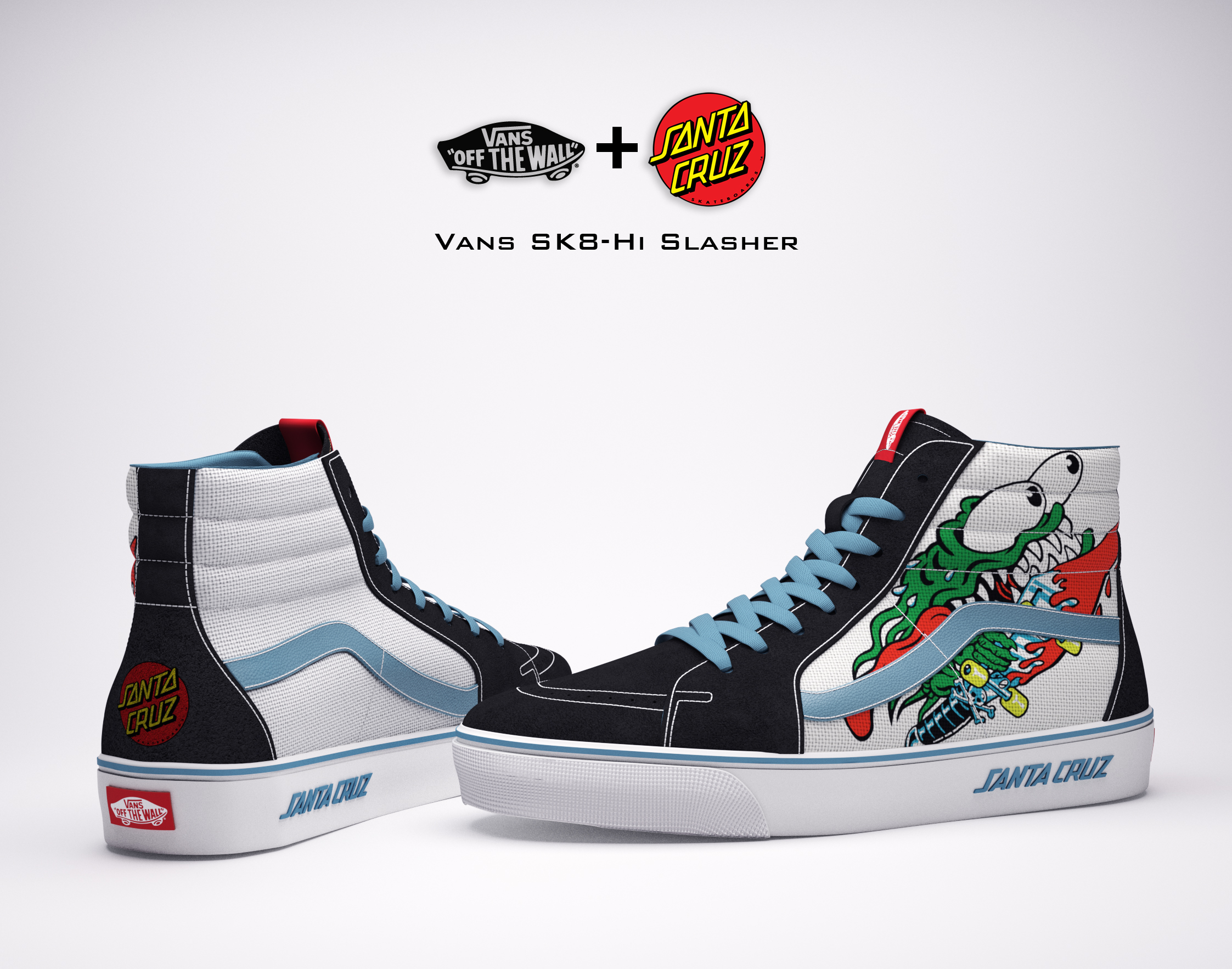6a910bc525 Vans   Santa Cruz Skateboards Collaboration on Behance