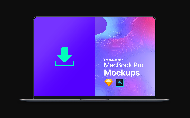 Freebies: The New MacBook Pro Mockup | Sketch App — SketchTalk