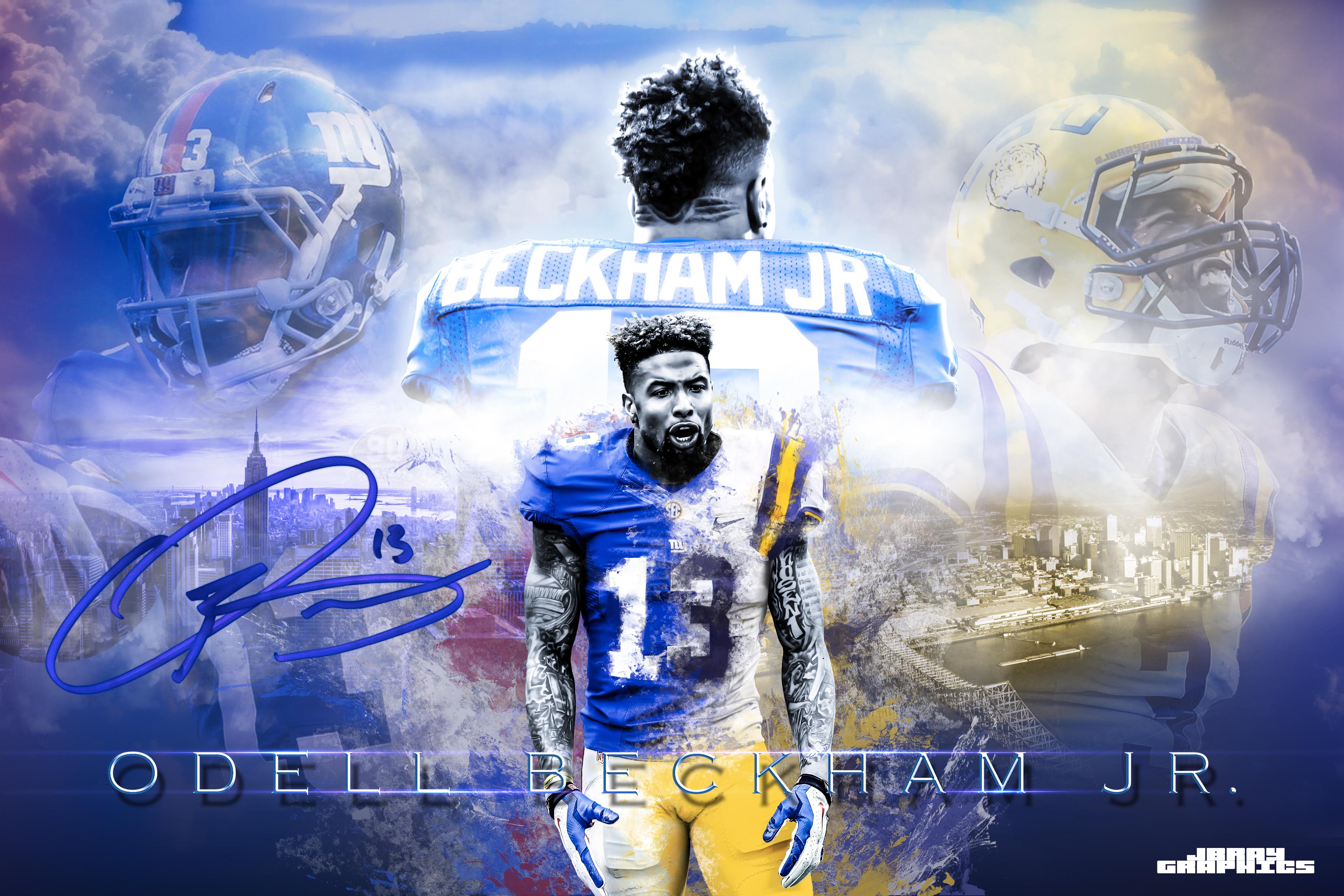 """Odell Beckham Jr """"Legacy"""" Wallpaper on Behance"""