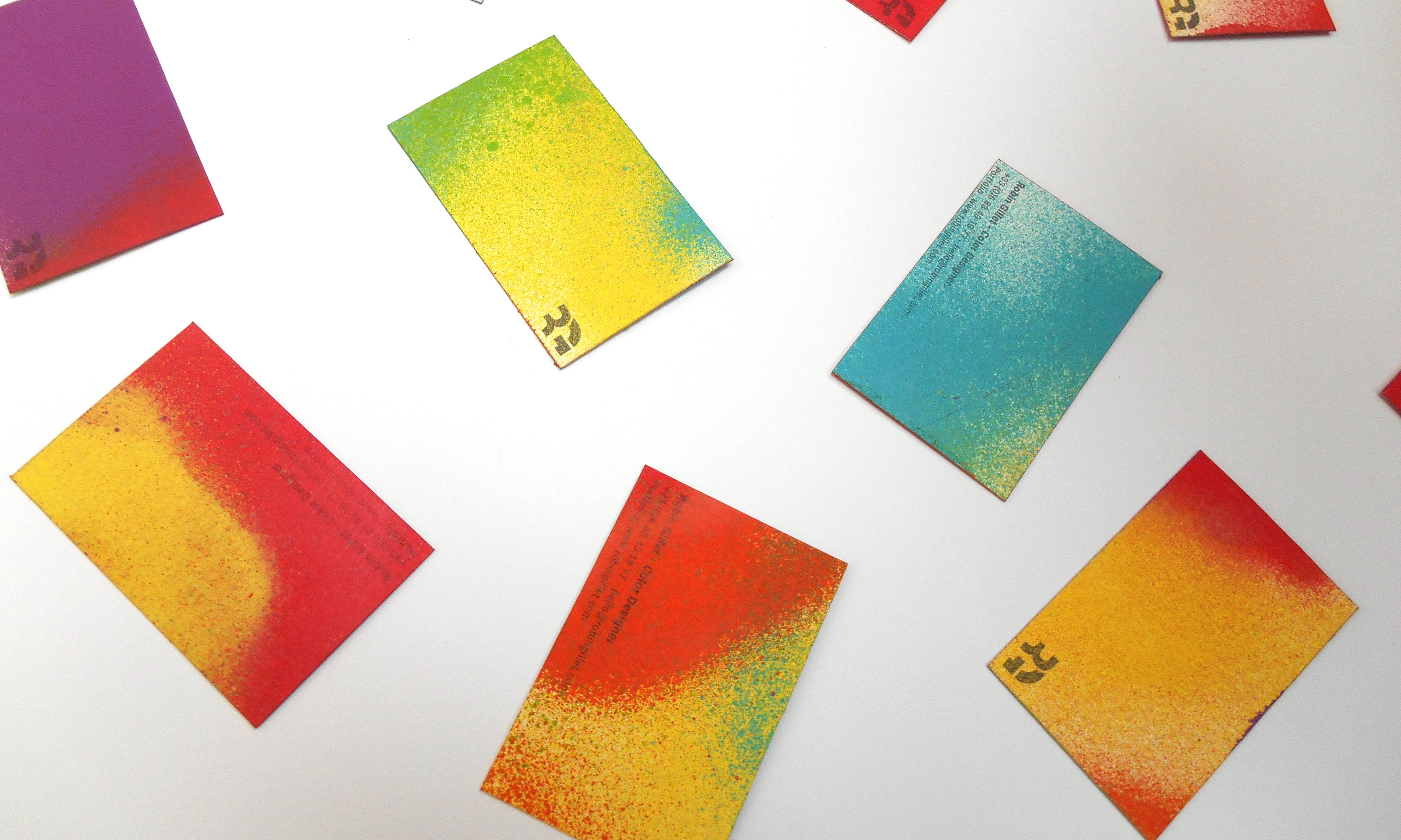 diy colorful business card on behance