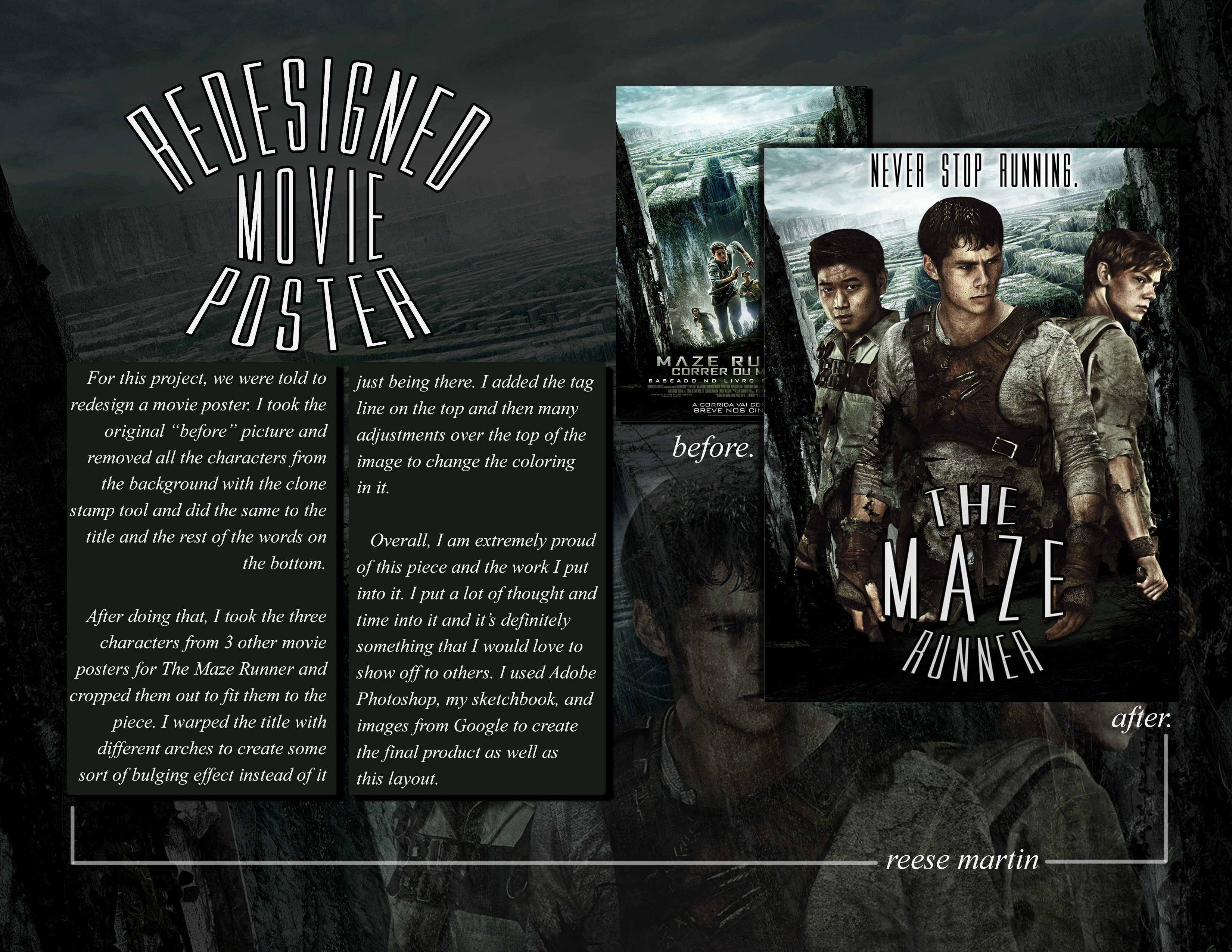 The Maze Runner Movie Poster On Behance