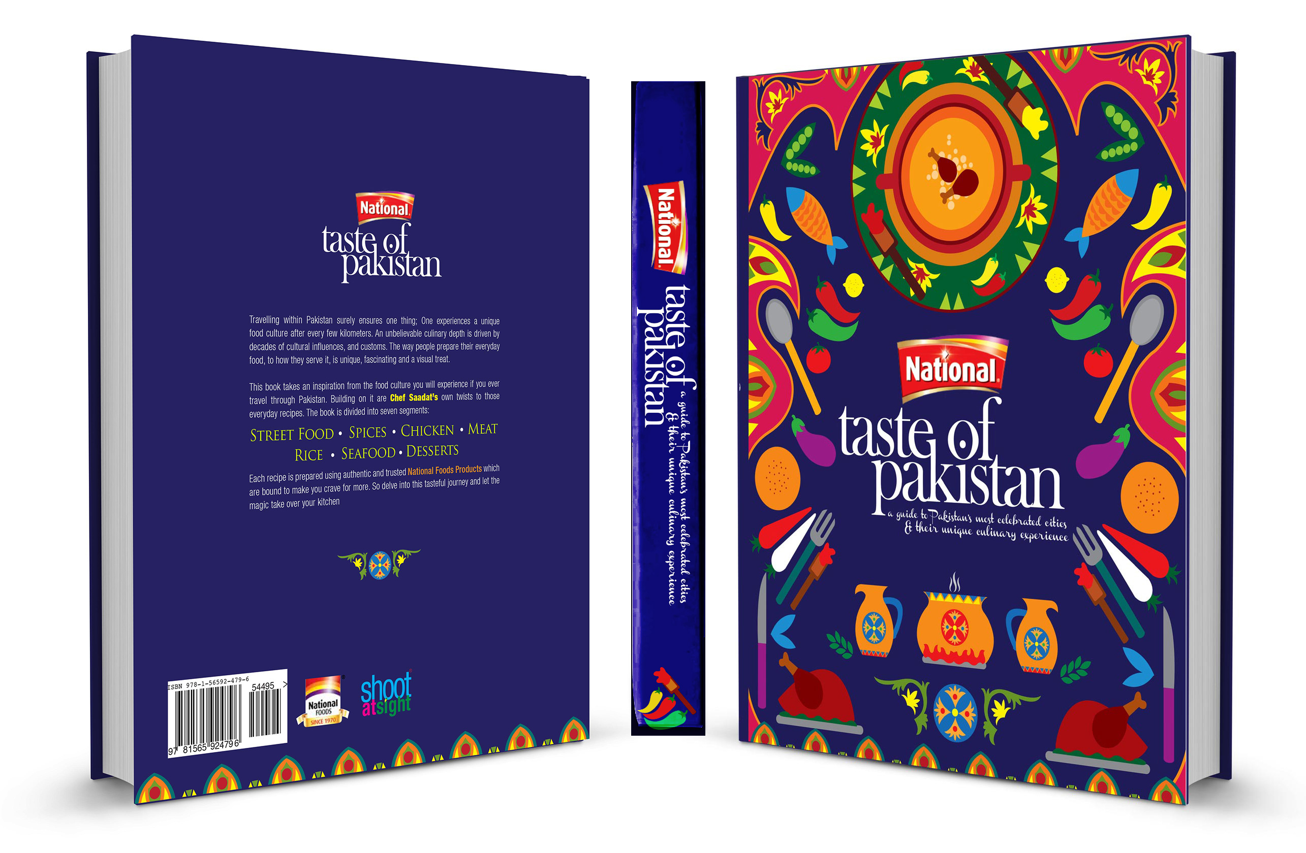 Nationals taste of pakistan cook book cover on behance forumfinder Choice Image