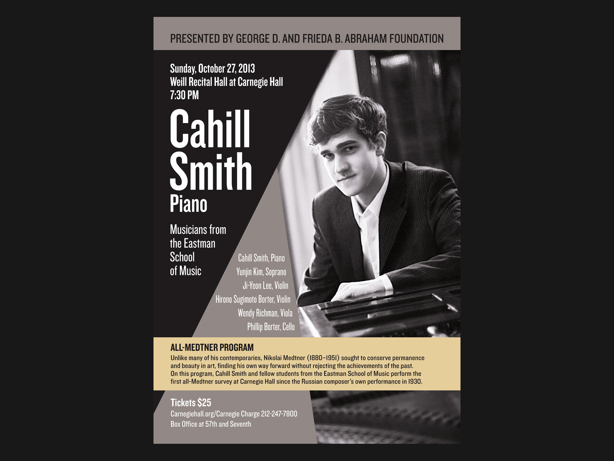 Poster For Recital At Carnegie Hall Draft