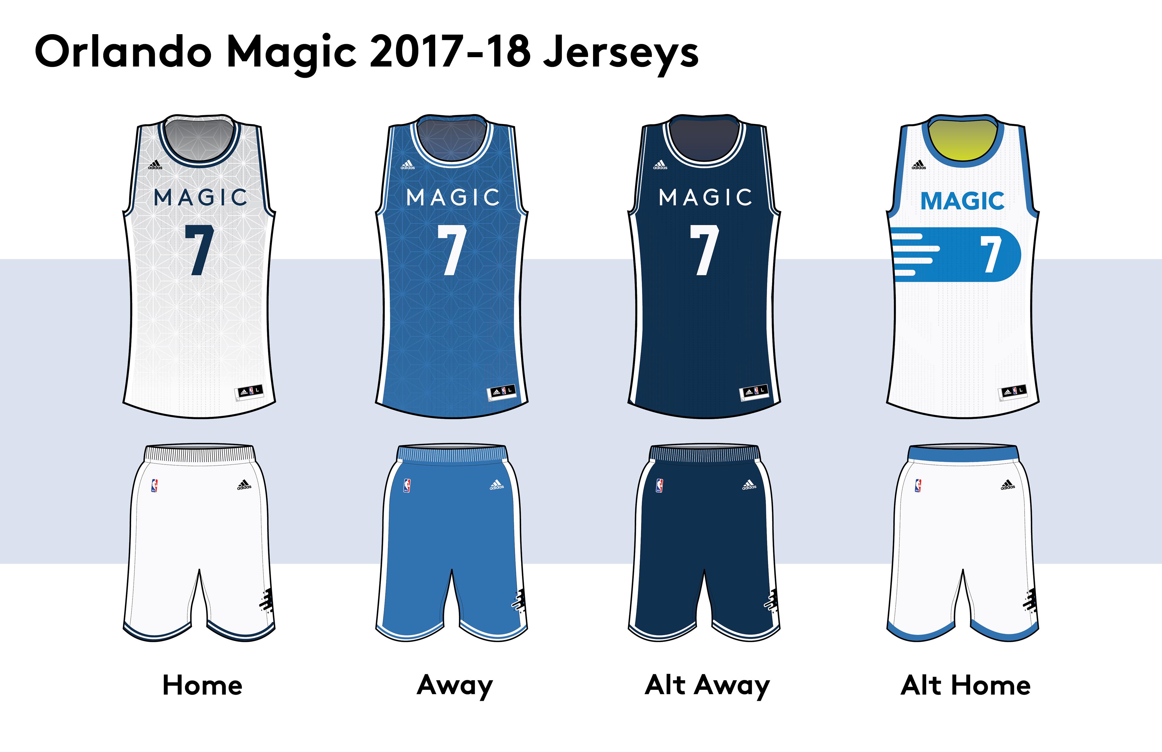 innovative design 2636a 1bcf0 orlando magic home and away jersey