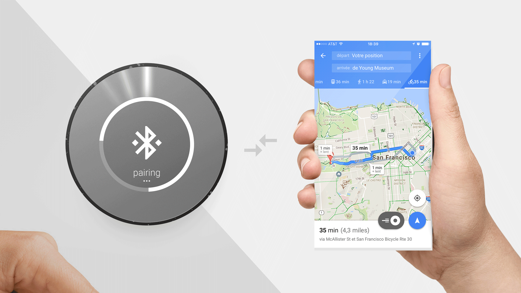 Industrial Design and UI/UX: Orion Cycling Navigation