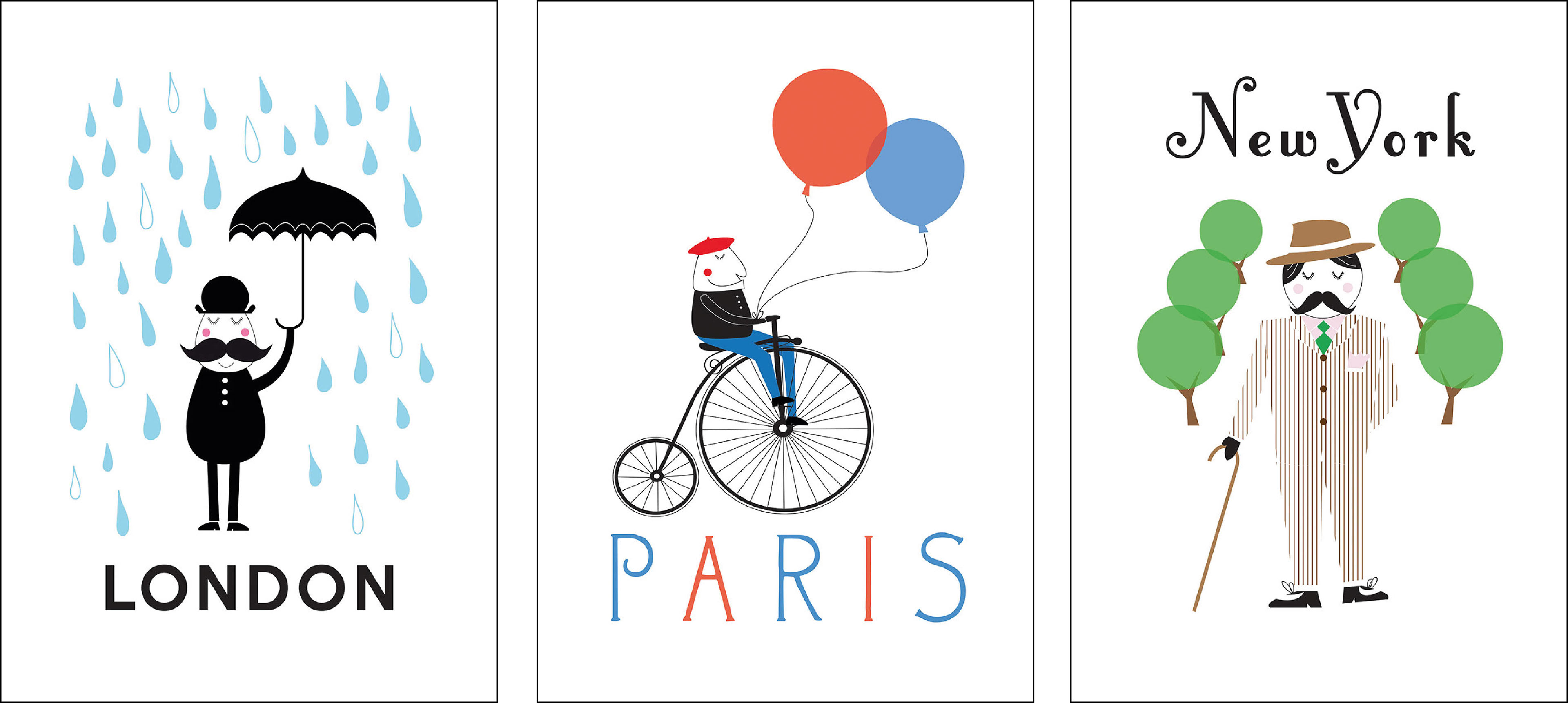 London Paris New York Prints For Ikea On Behance