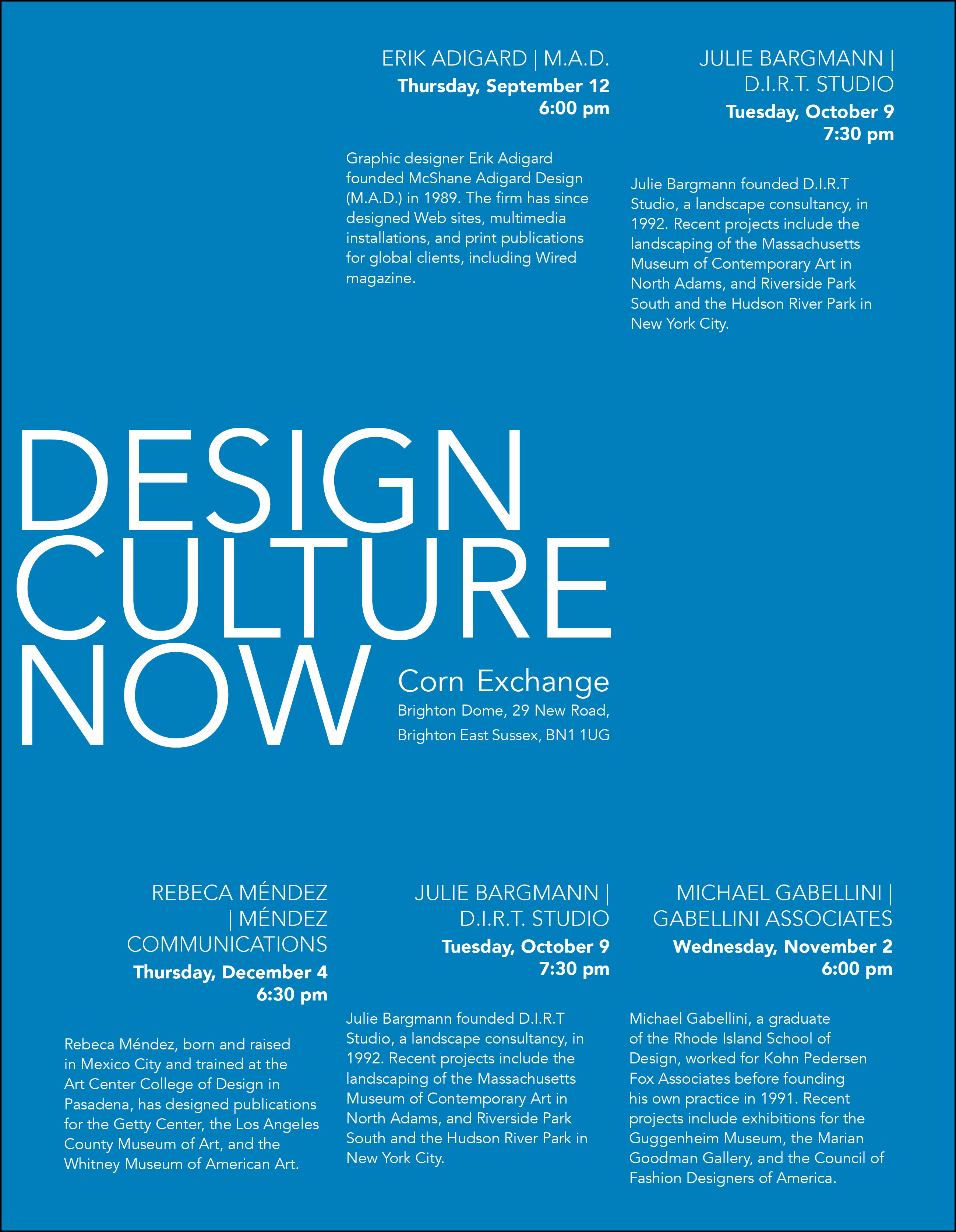 Carrie Leaver - Typographic poster - Design Culture Now