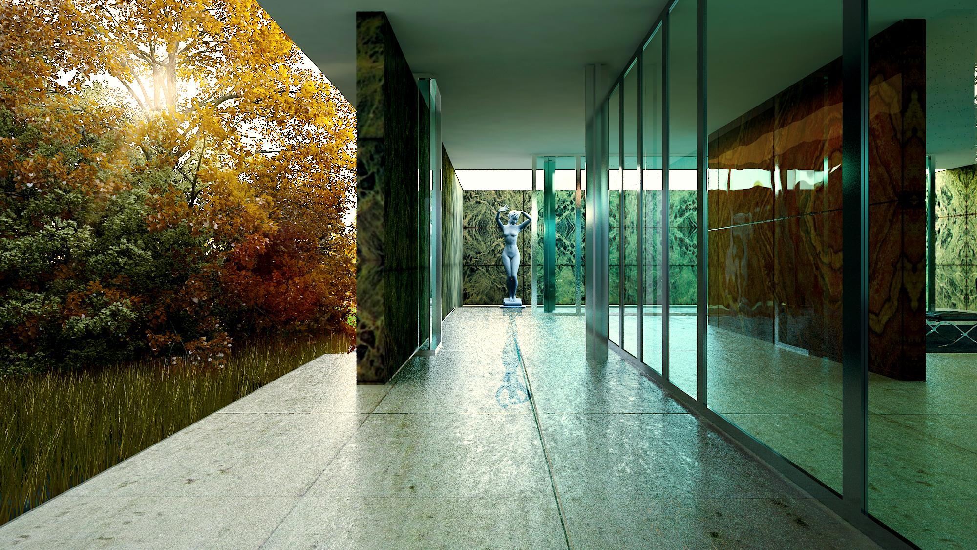 Barcelona pavilion exterior - Barcelona Pavilion Exterior 21
