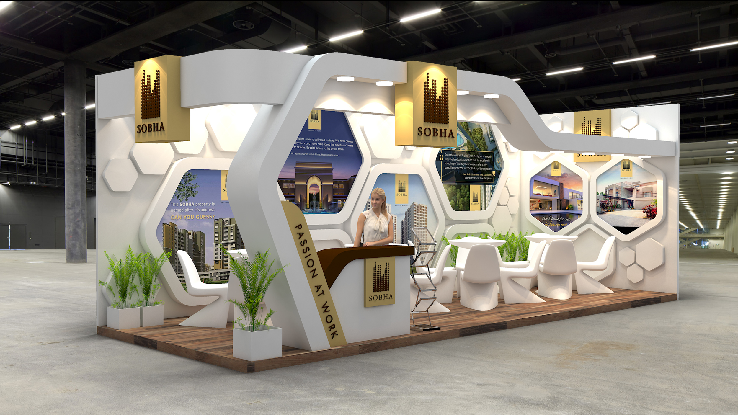 Property Exhibition Booth : Sobha ltd exhibition design for indian property show on behance