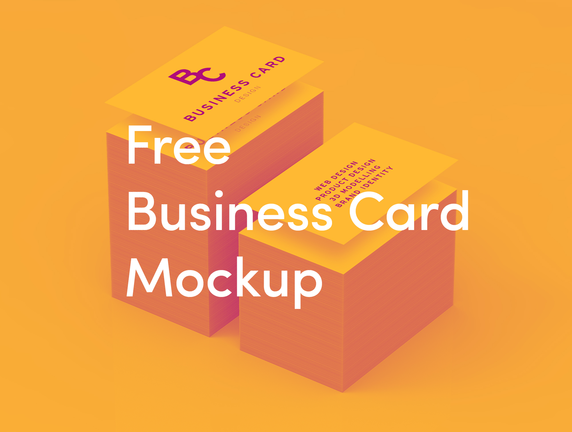 Free Business Card Mockup High Quality on Behance