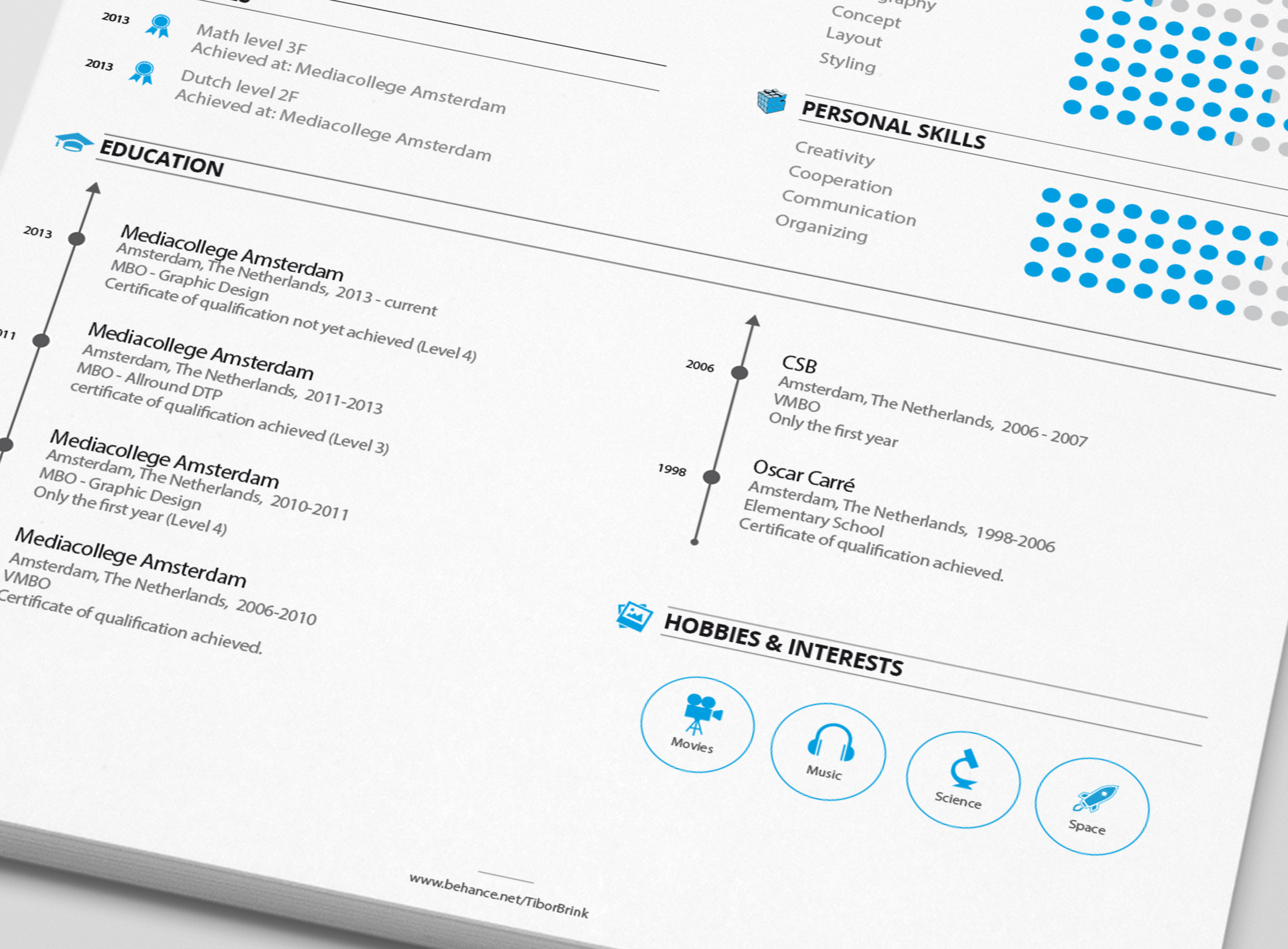 Personal Resume U0026 Promotion On Behance  Personal Skills For A Resume