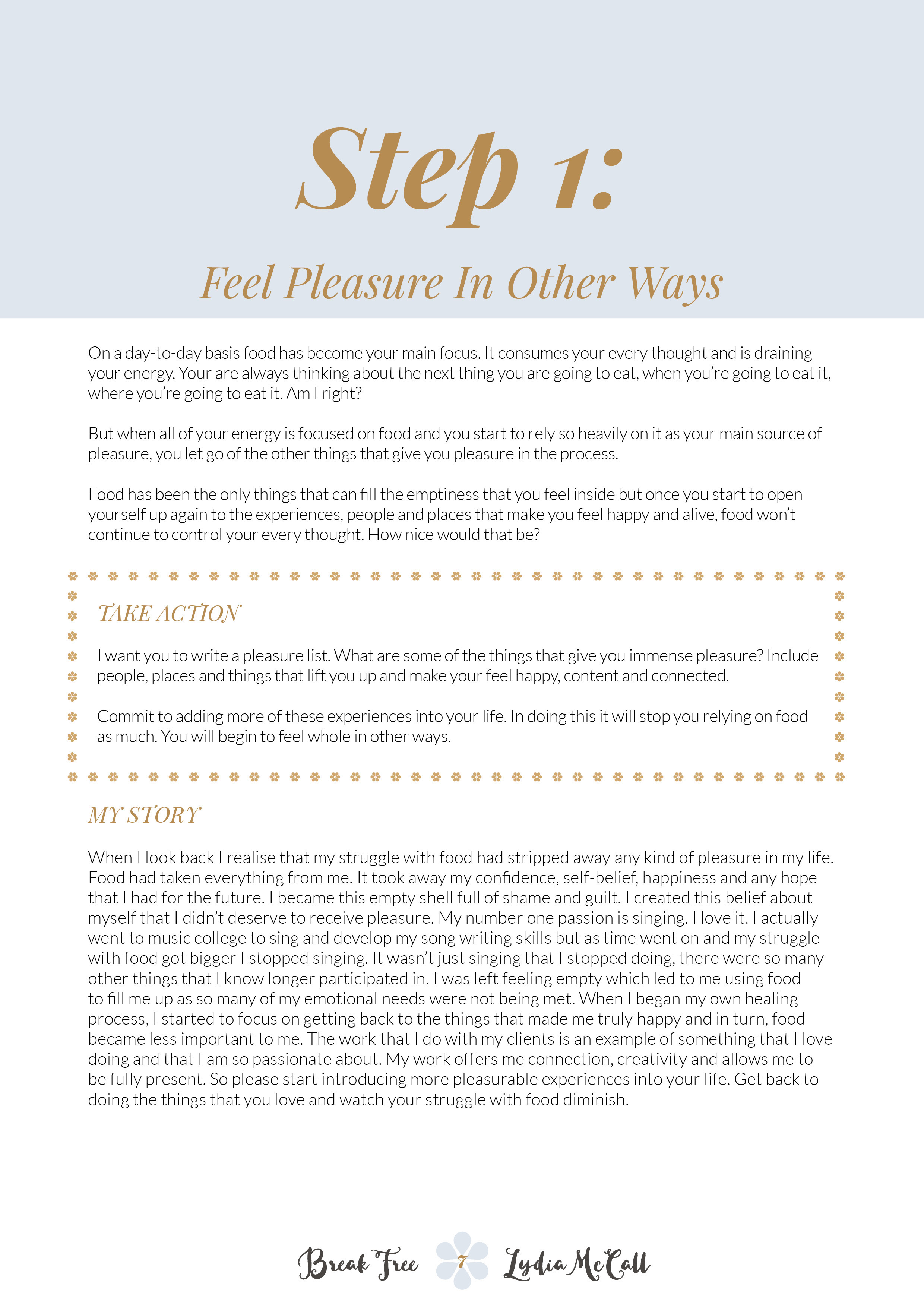 Lorna morris freelance graphic designer this ebook was created for health coach lydia mccall to coincide with her new website launch httplydiamccall fandeluxe PDF