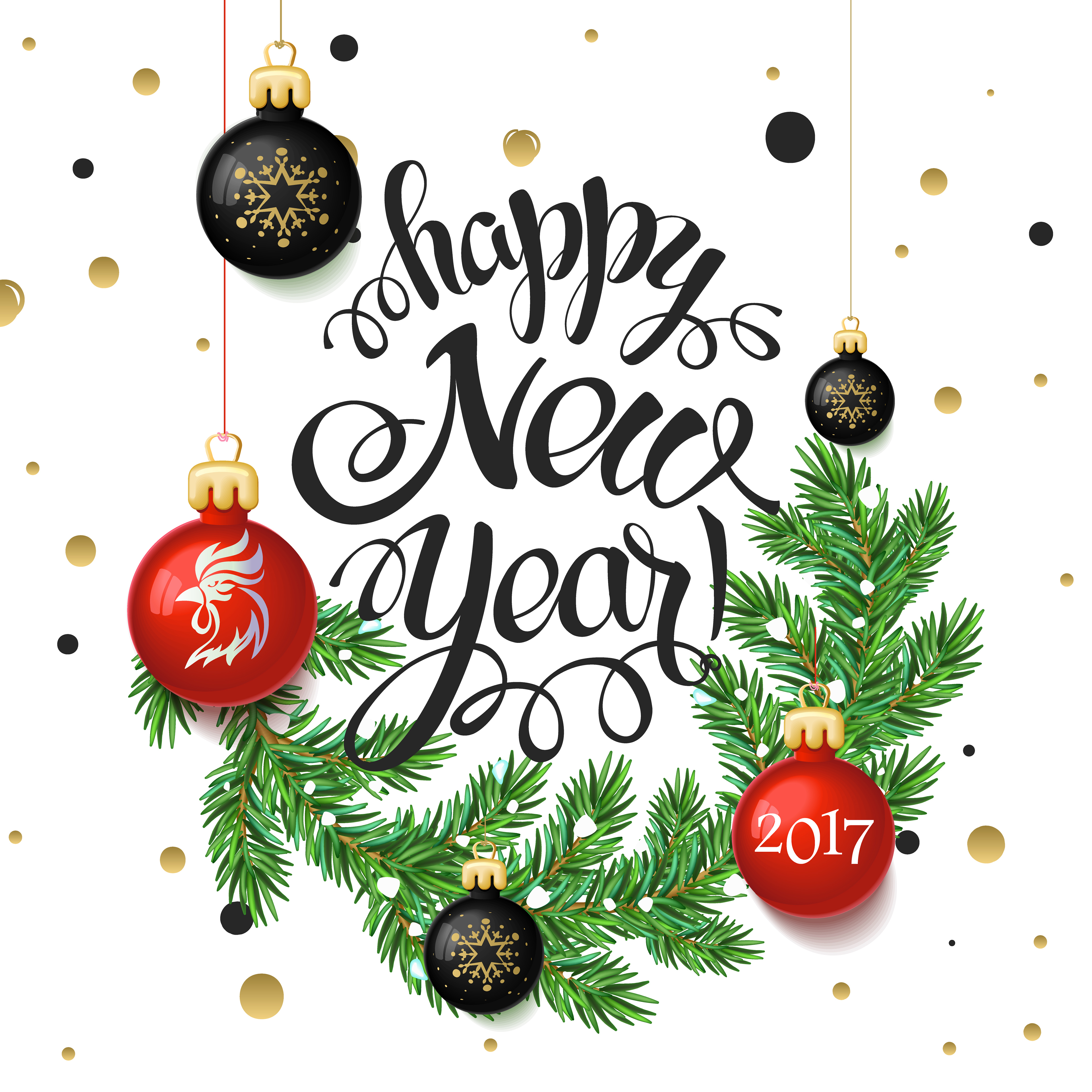 Merry Christmas and Happy New Year 2017 on Behance