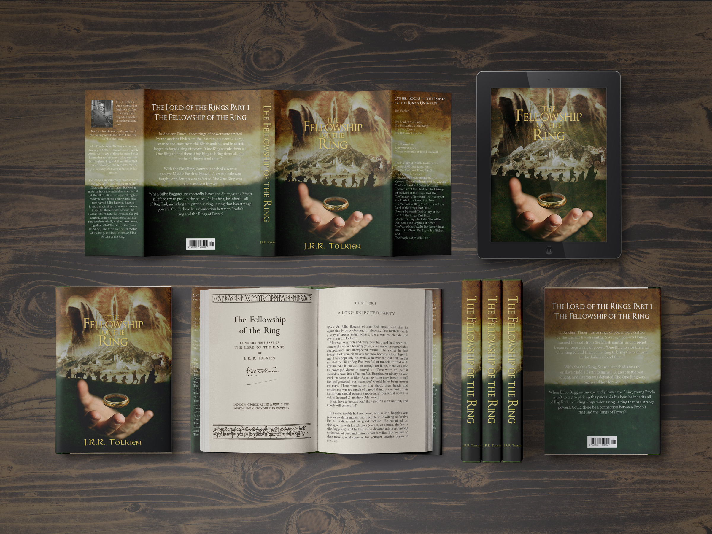 Book Cover Design Rule Of Three ~ Book cover redesign fellowship of the ring on behance
