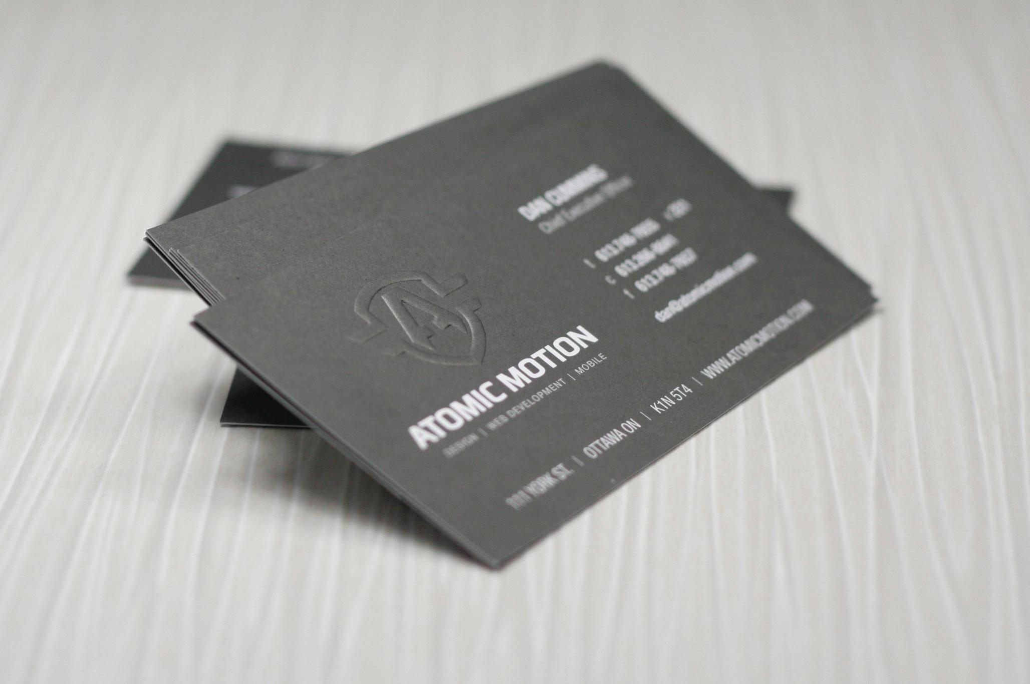 Newprint Portfolio Business Cards