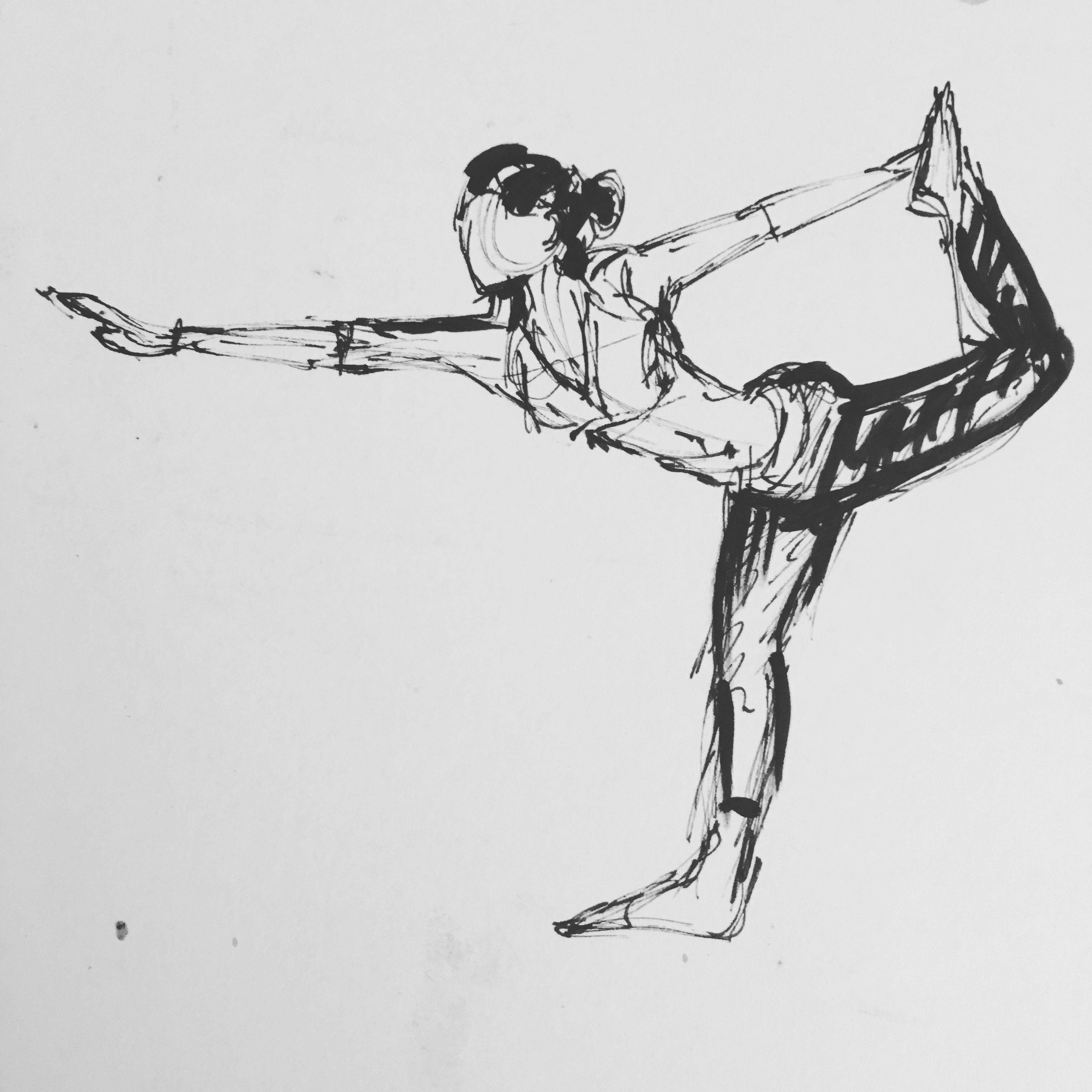 Sketches Bases On Yoga Asanas