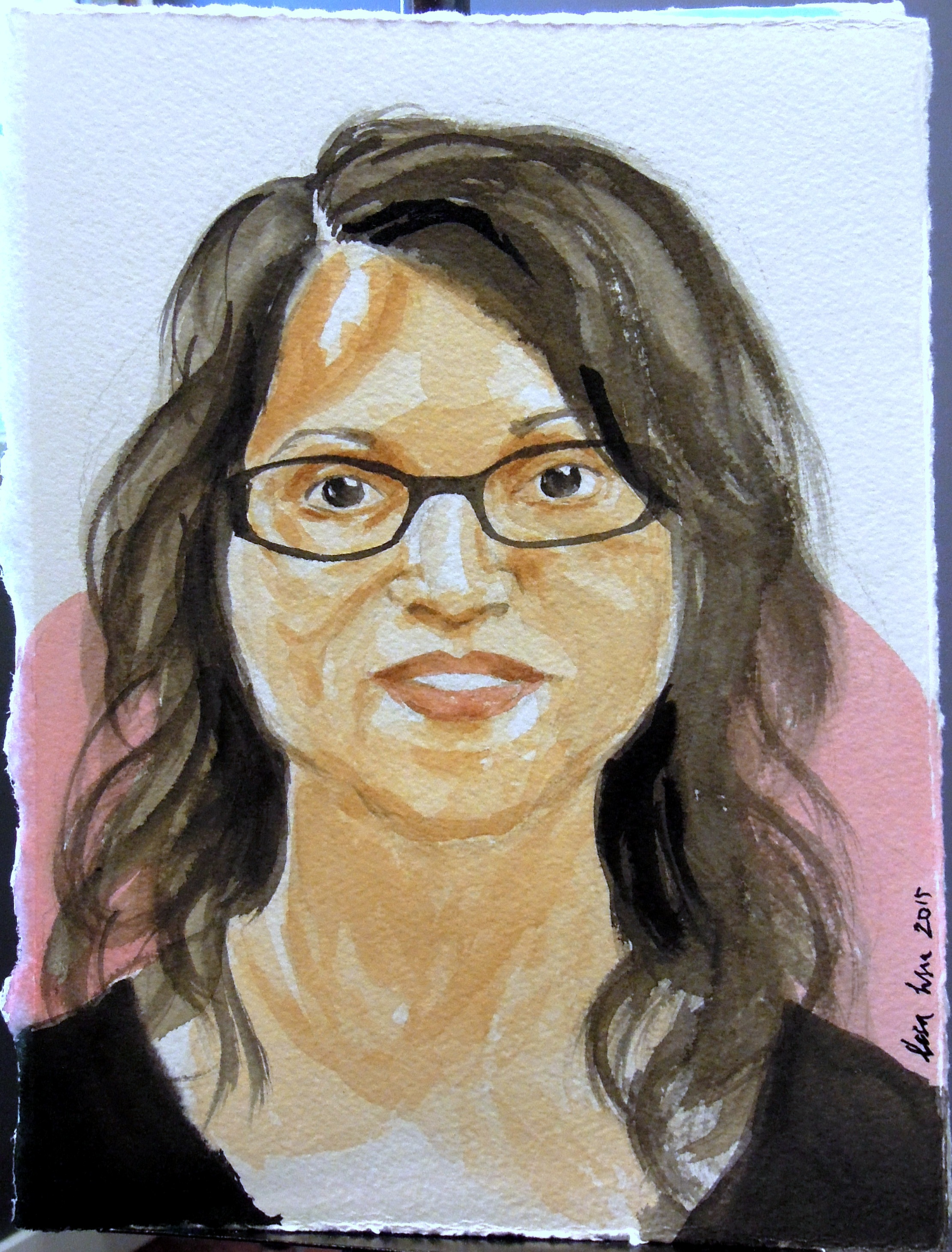 Portrait of Tania in watercolor, 2015