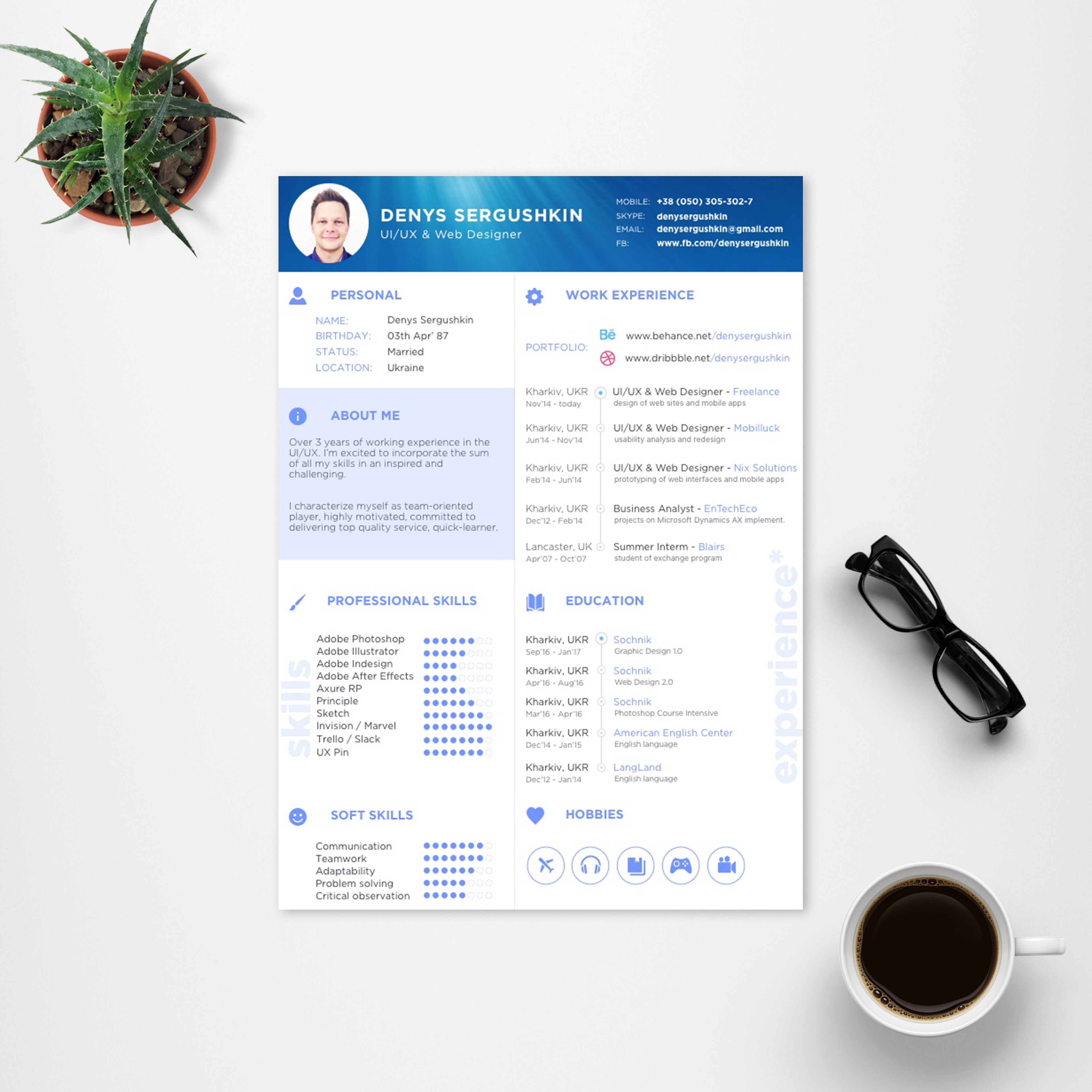 free resume template download psd sketch on behance adobe resume template