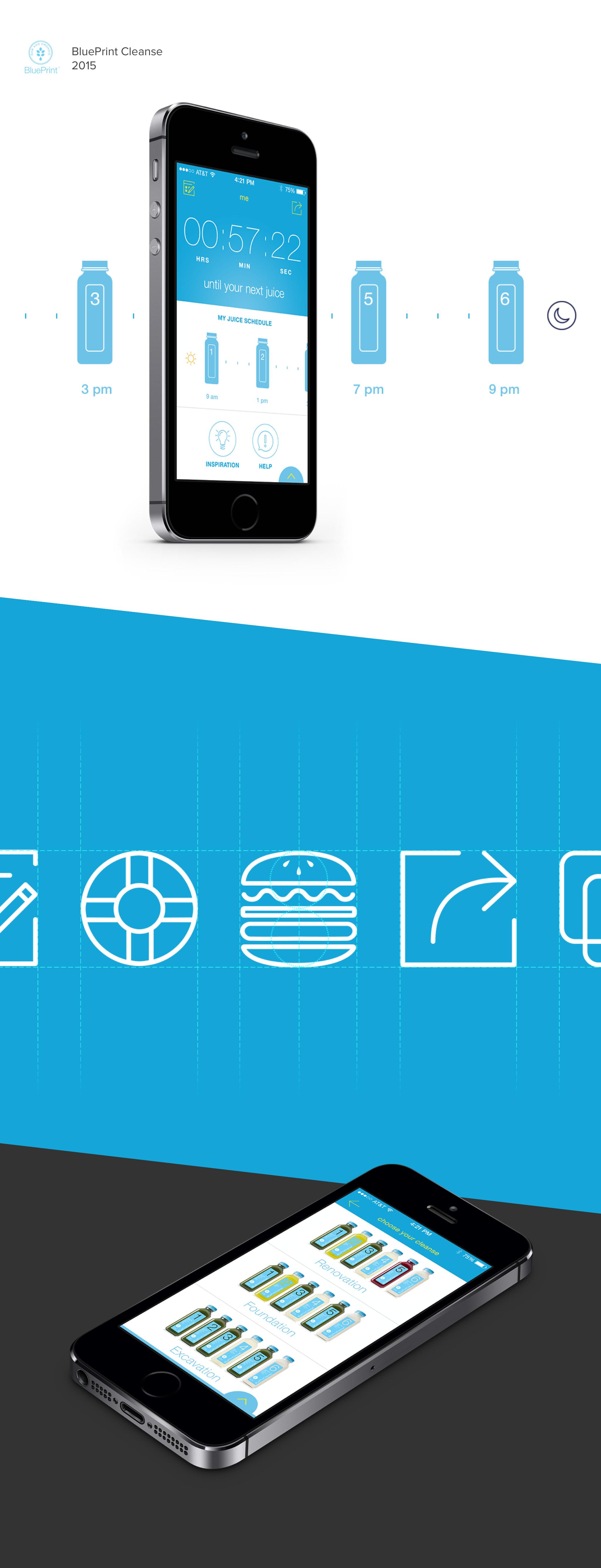 Blueprint cleanse mobile app on behance malvernweather Gallery