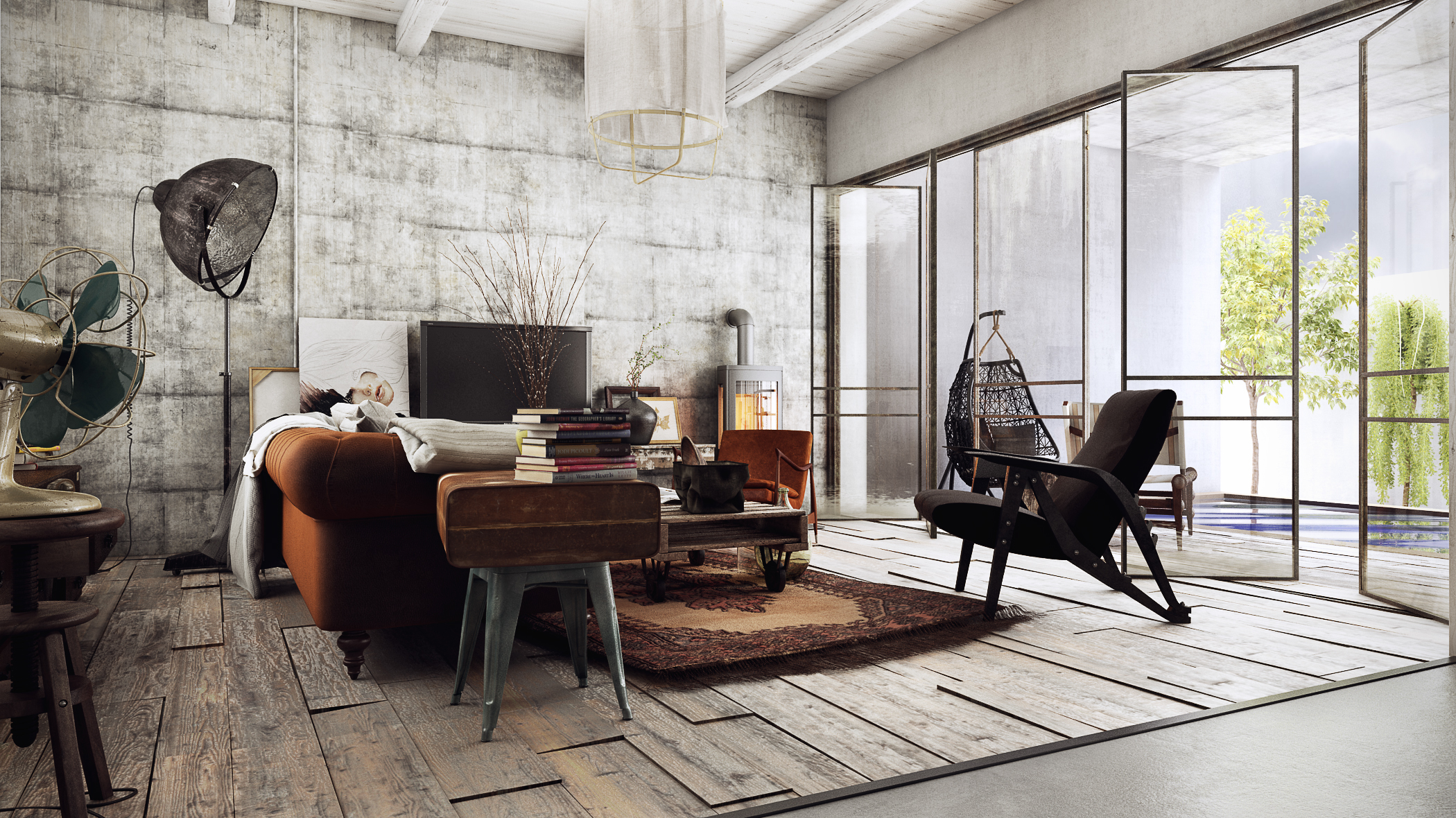 Vintage - Industrial house! on Behance