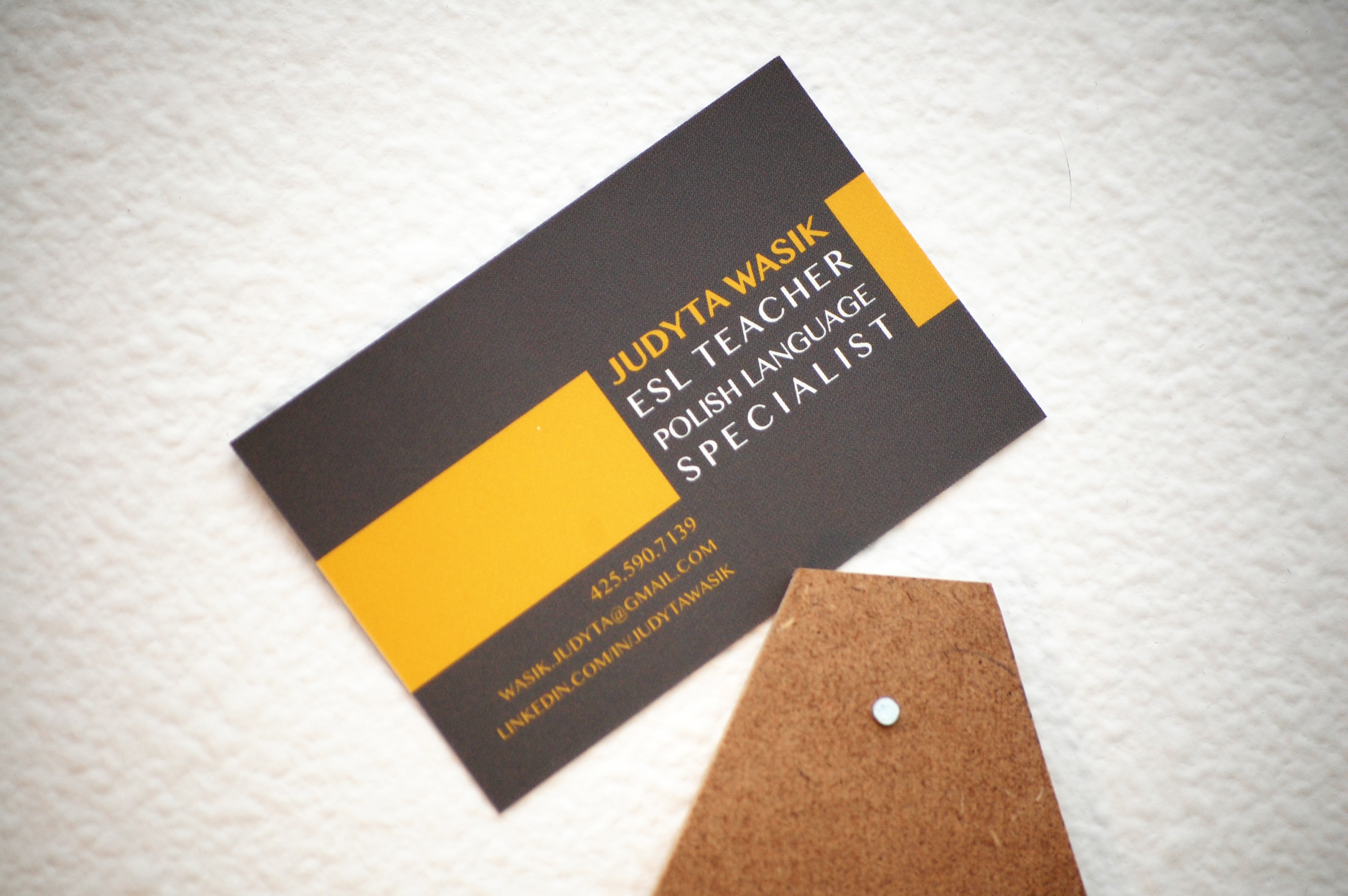 Joanna wybranska business card designed business card for a polish english teacher using her favorite quotes definitions and color palette printed at moo client project colourmoves Choice Image