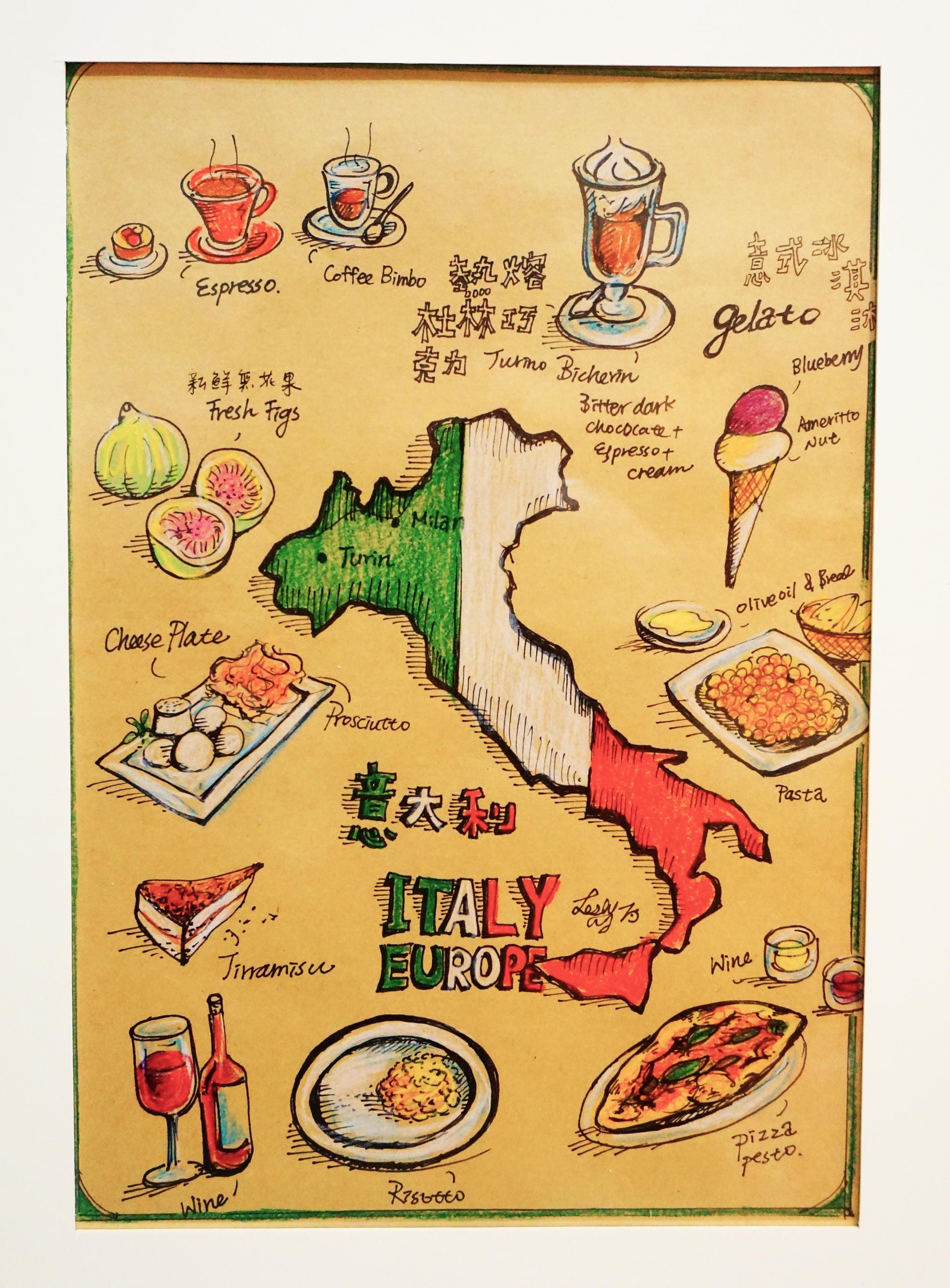 Mini World Map.Leslie Wang Mini World Food Map Europe