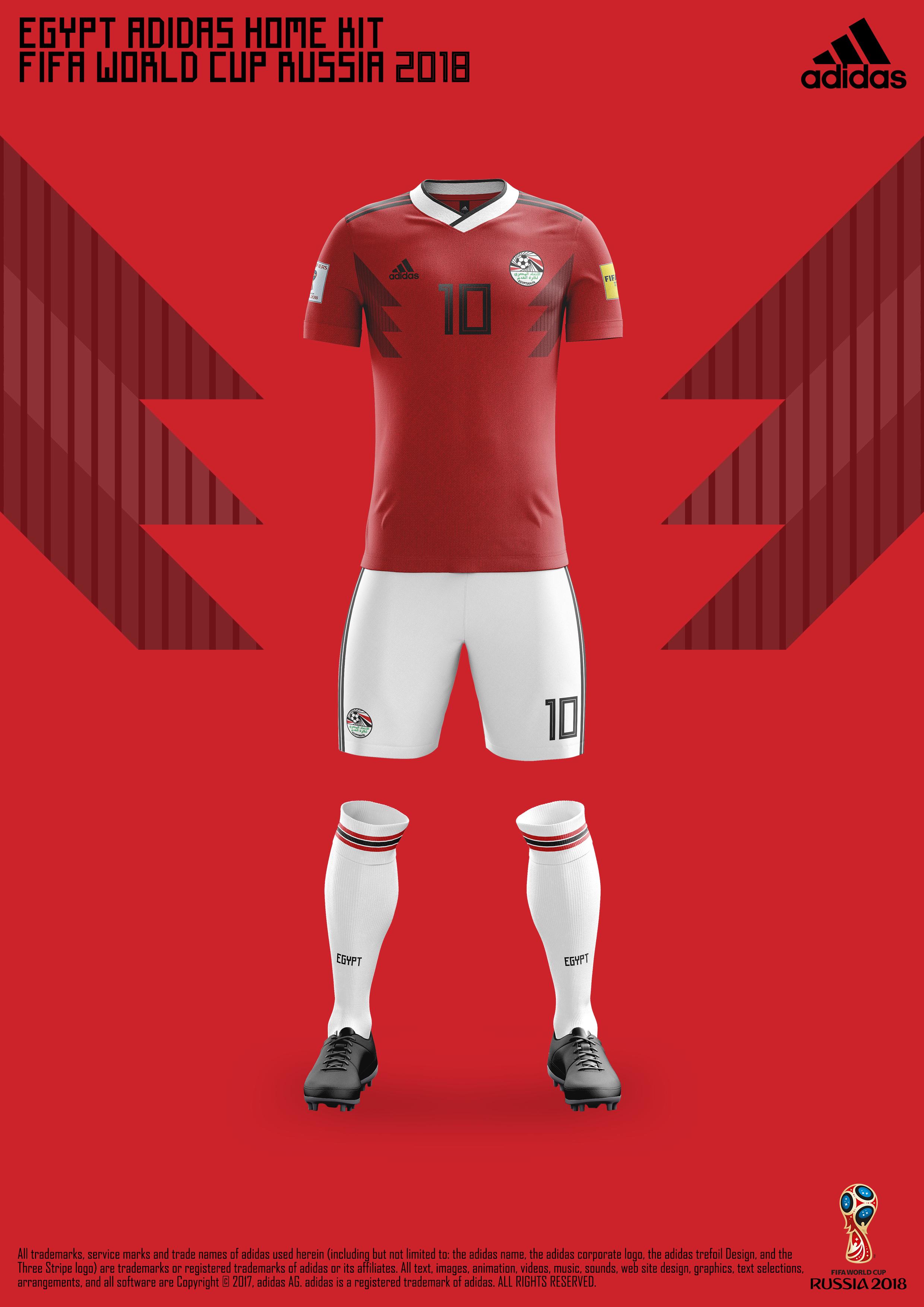 5f700dbf50071 Egypt FA Adidas® Kits - FIFA World Cup Russia 2018™ on Behance