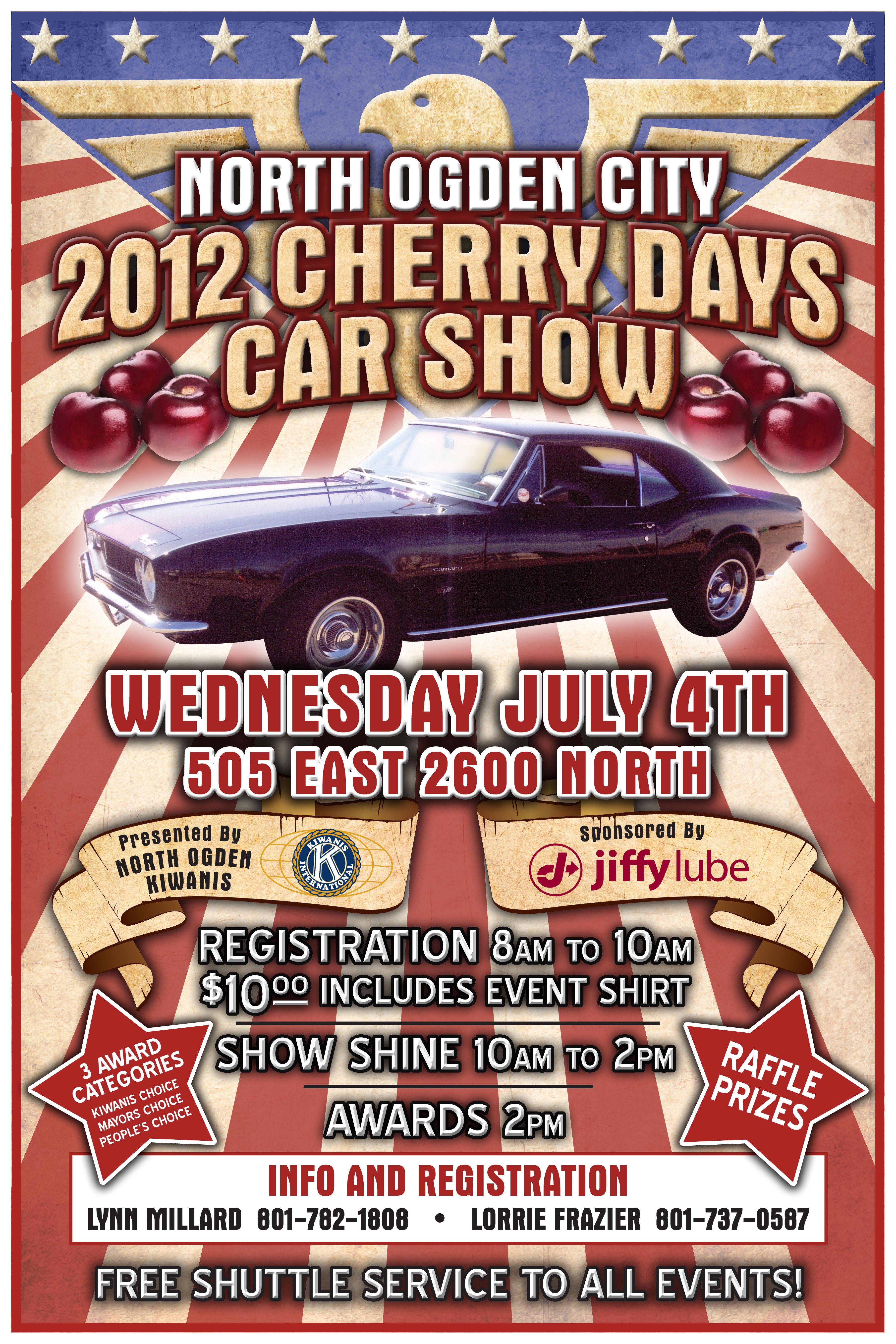 Jeremy James NOgden Cherry Days Car Show - Car show award categories