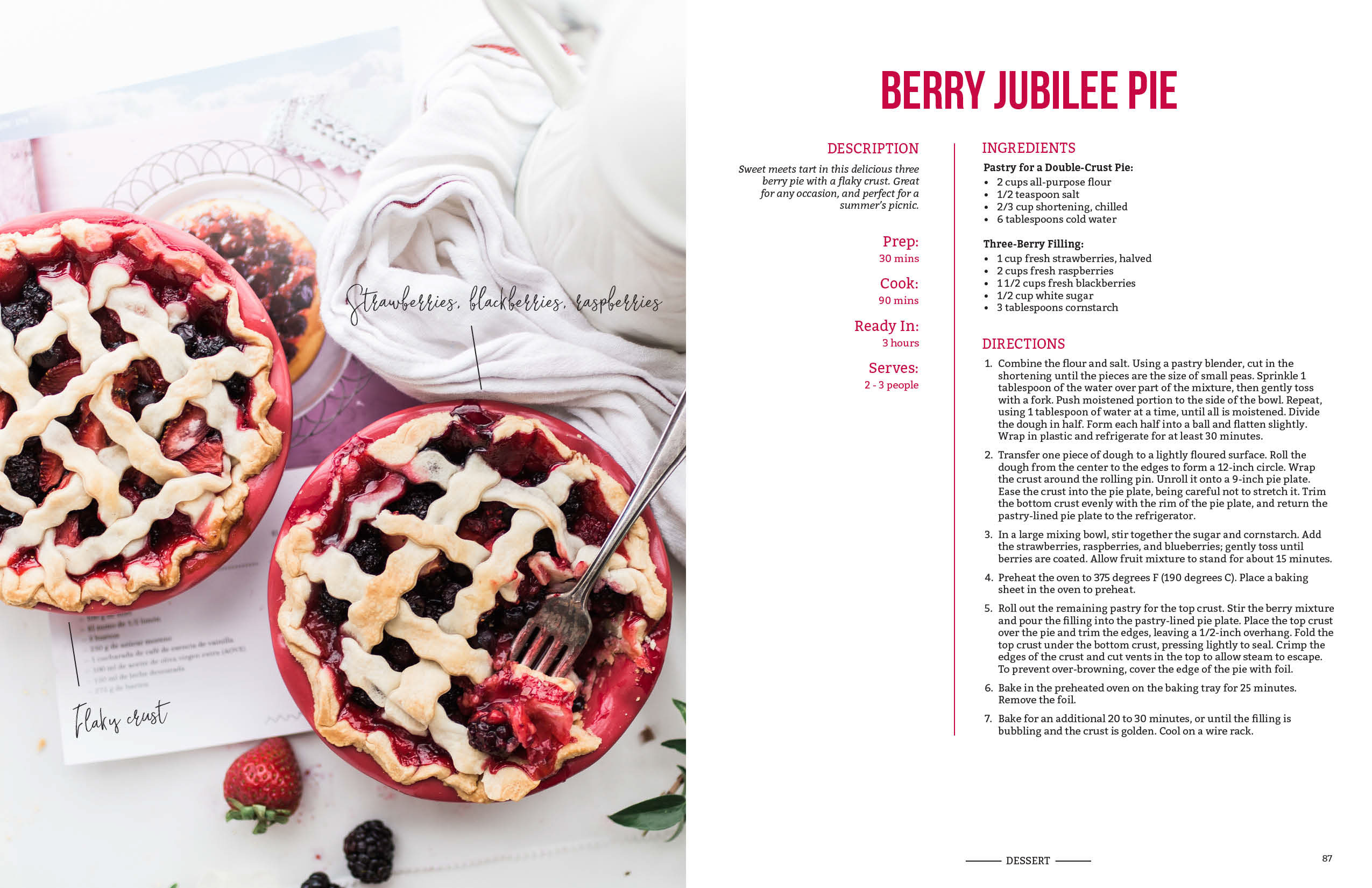 butcher block cookbook layout on behance