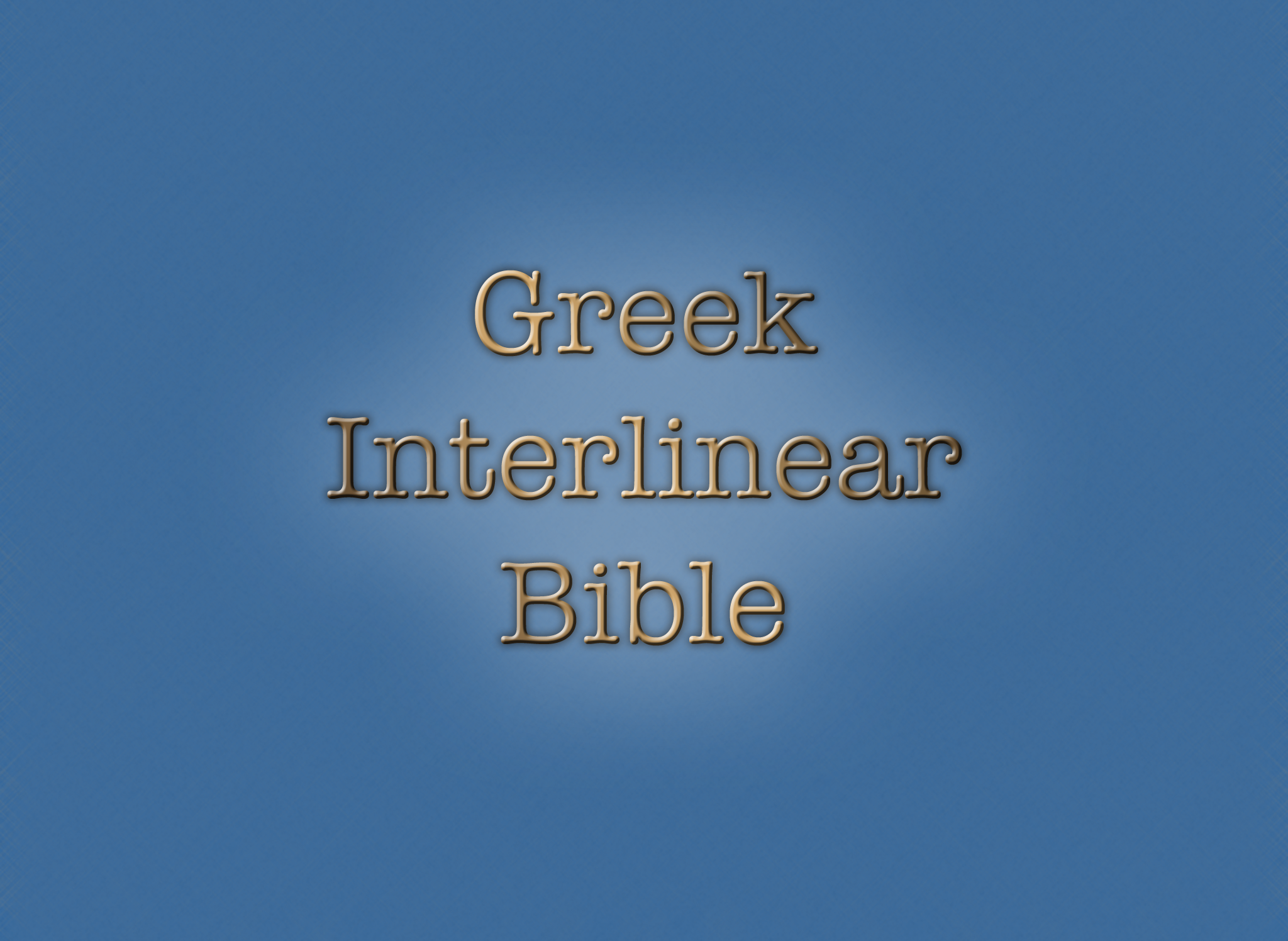 Kerri Shotts - Greek Interlinear Bible v1 0
