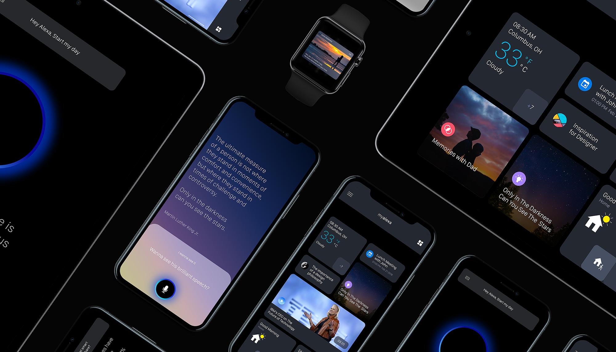 UI/UX & Interaction Design: Amazon Alexa App Concept