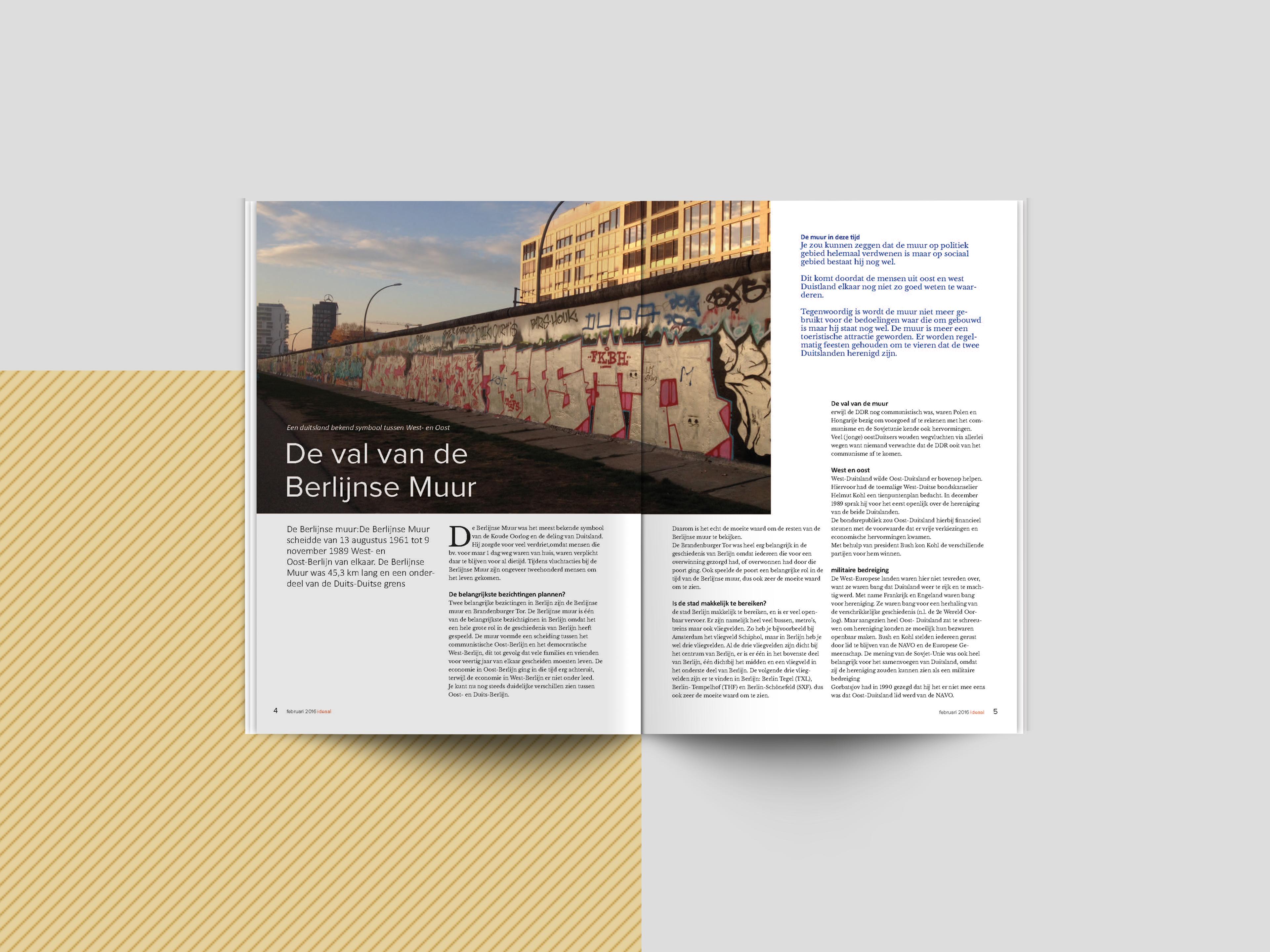 Graphic Design Muur : Magazine layout design on behance